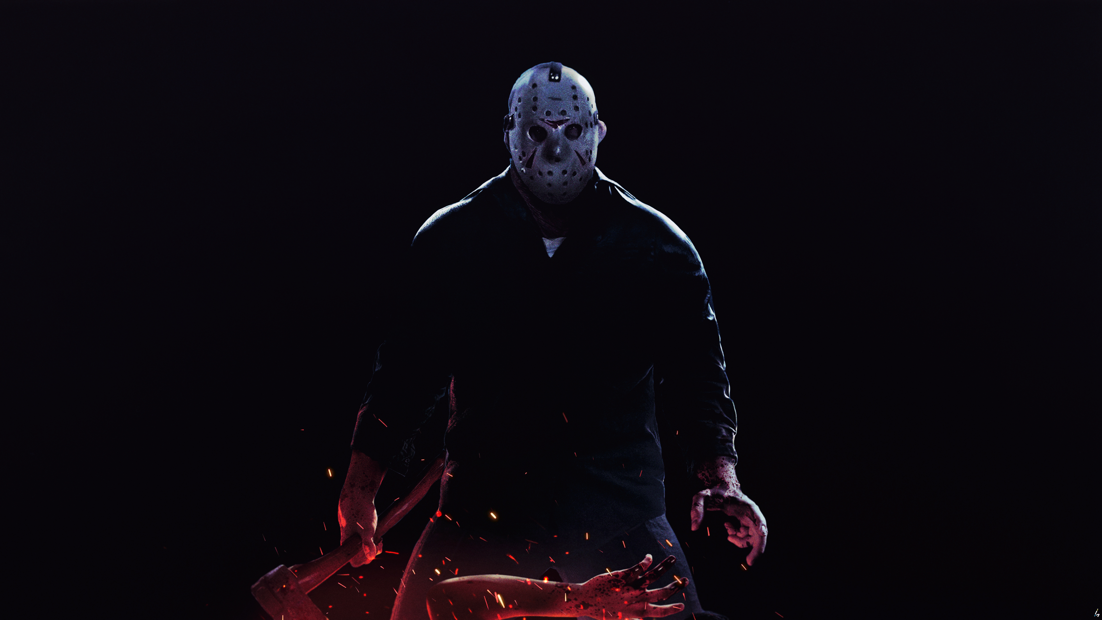 General 3840x2160 Friday the 13th friday the 13th (game) Friday the 13th the game horror fan art digital art Photoshop Video Game Maniacs video games