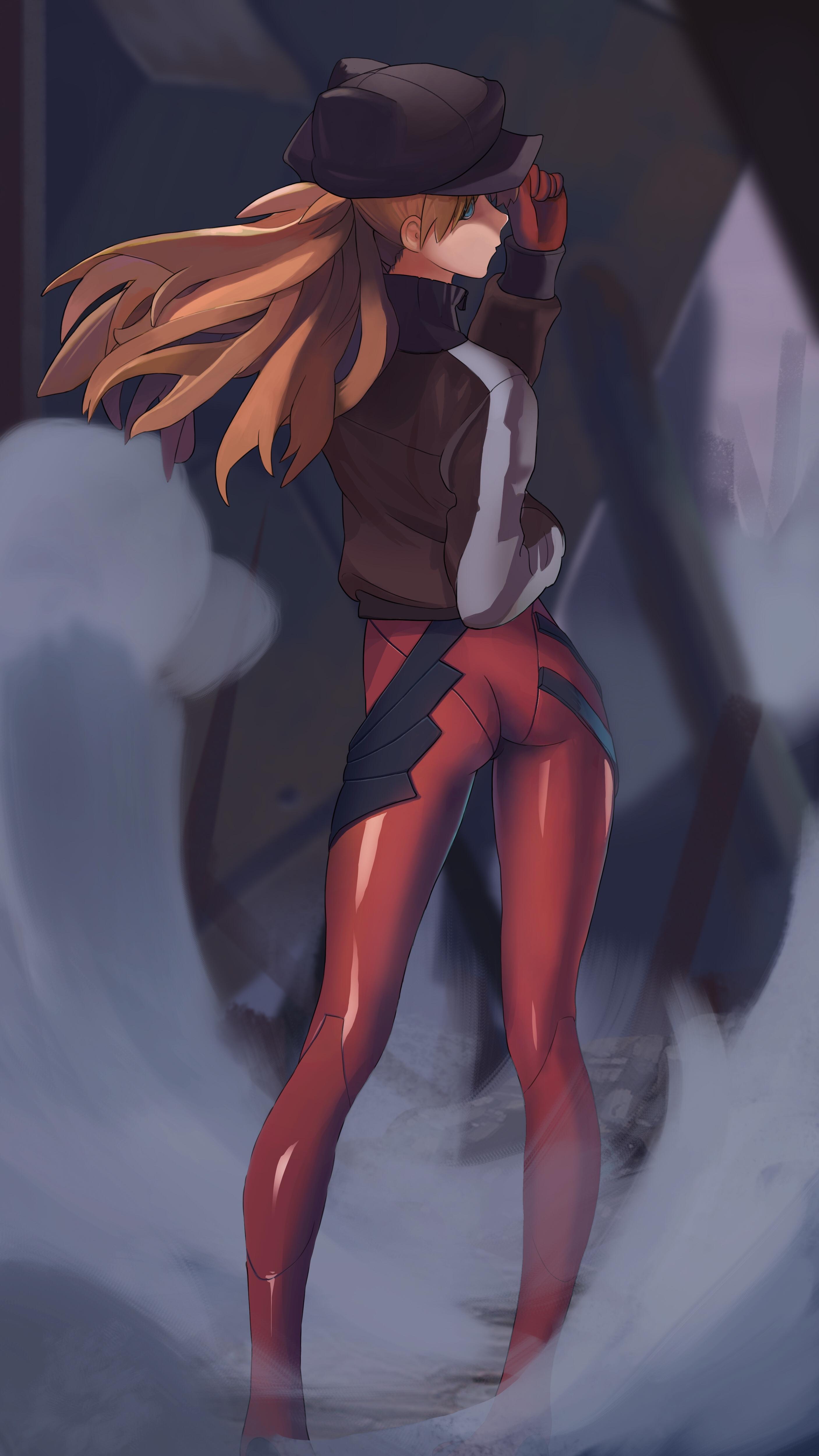 Anime 2813x5000 Asuka Langley Soryu Neon Genesis Evangelion women sweatshirts anime girls fan art digital art illustration 2D ass