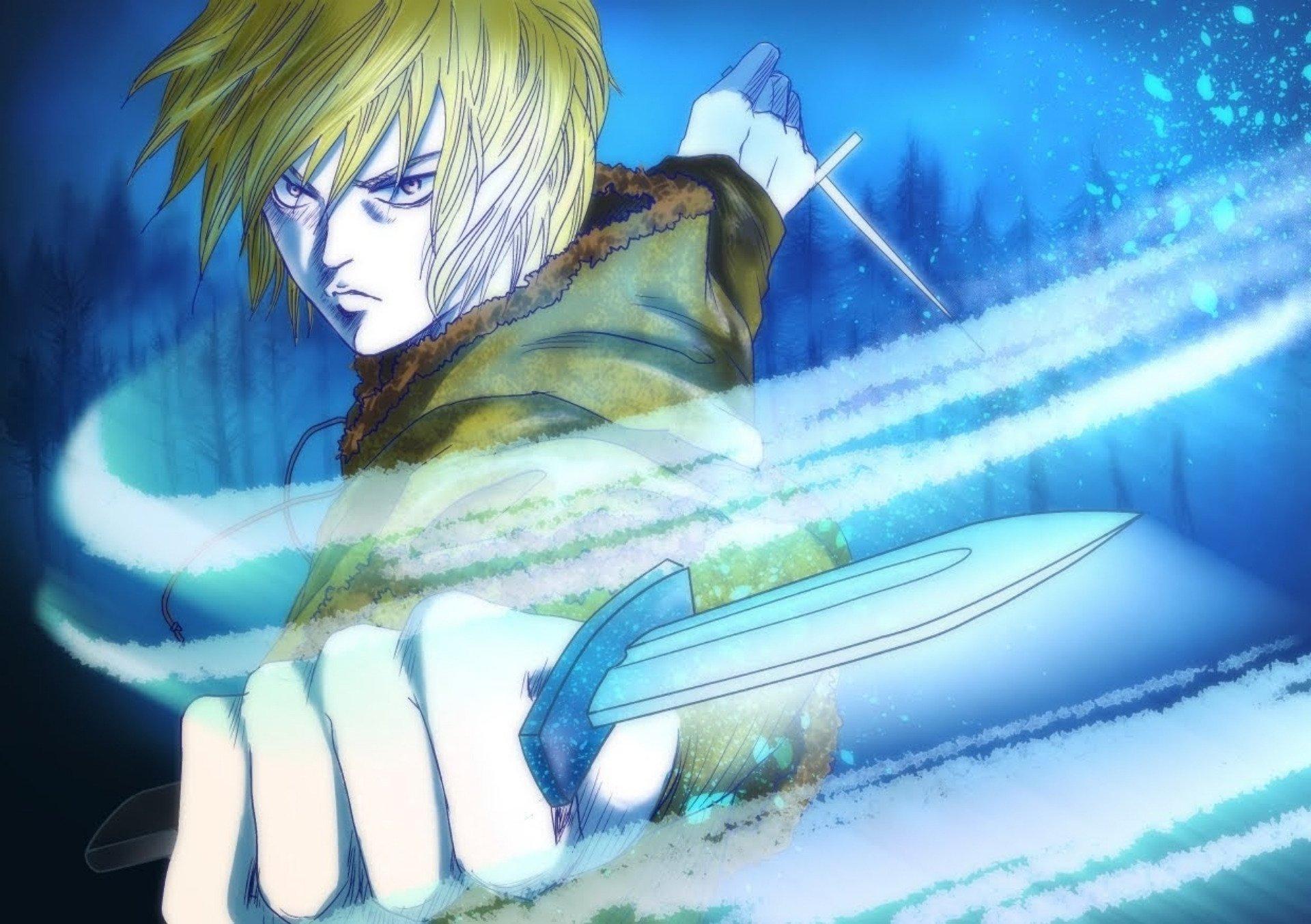 Anime 1920x1353 anime Vinland Saga anime boys weapon cyan blue knife