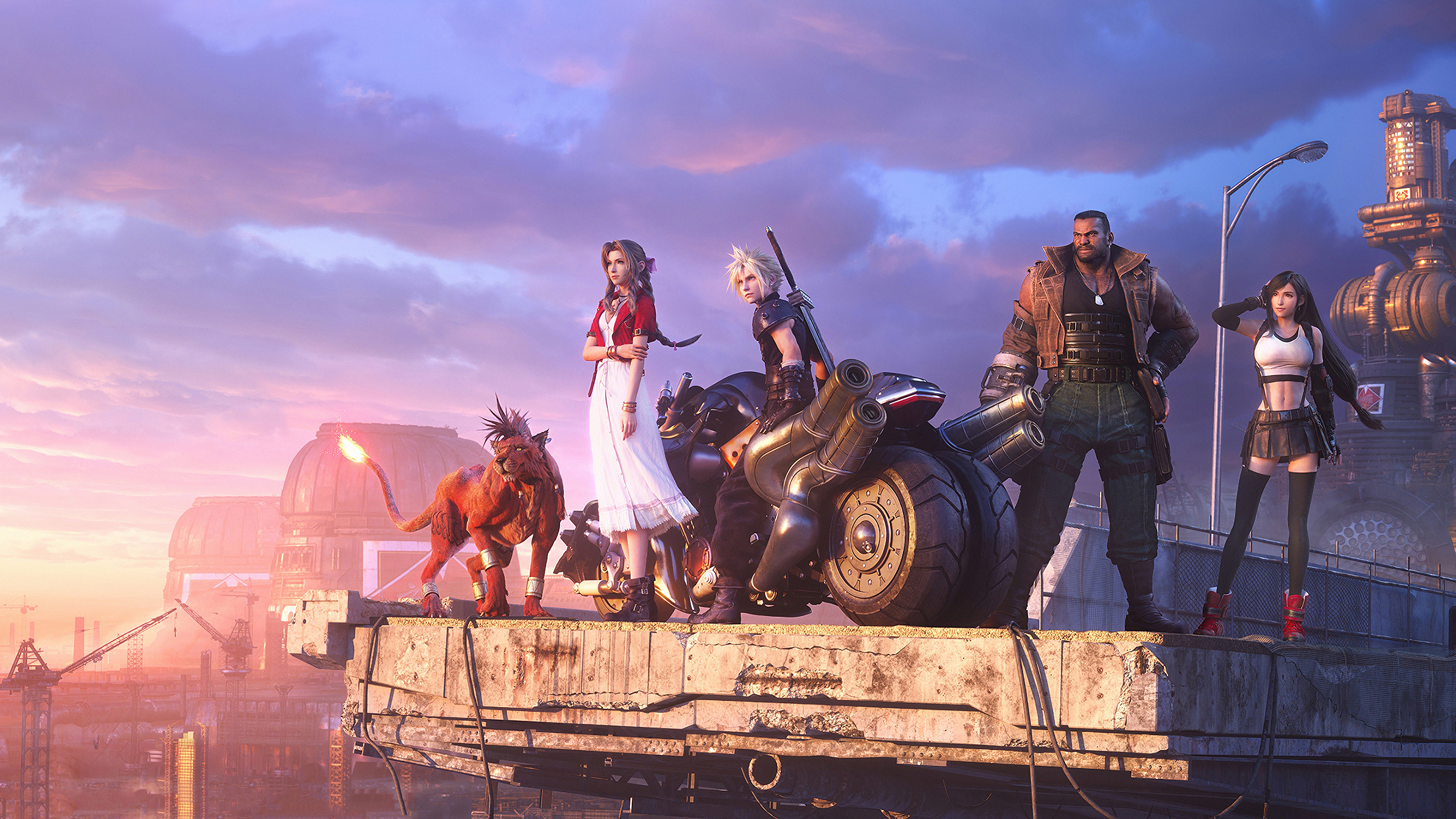 General 3840x2160 Final Fantasy VII PlayStation video games Final Fantasy VII: Remake Red XIII Aerith Gainsborough Cloud Strife Barret Wallace Tifa Lockhart