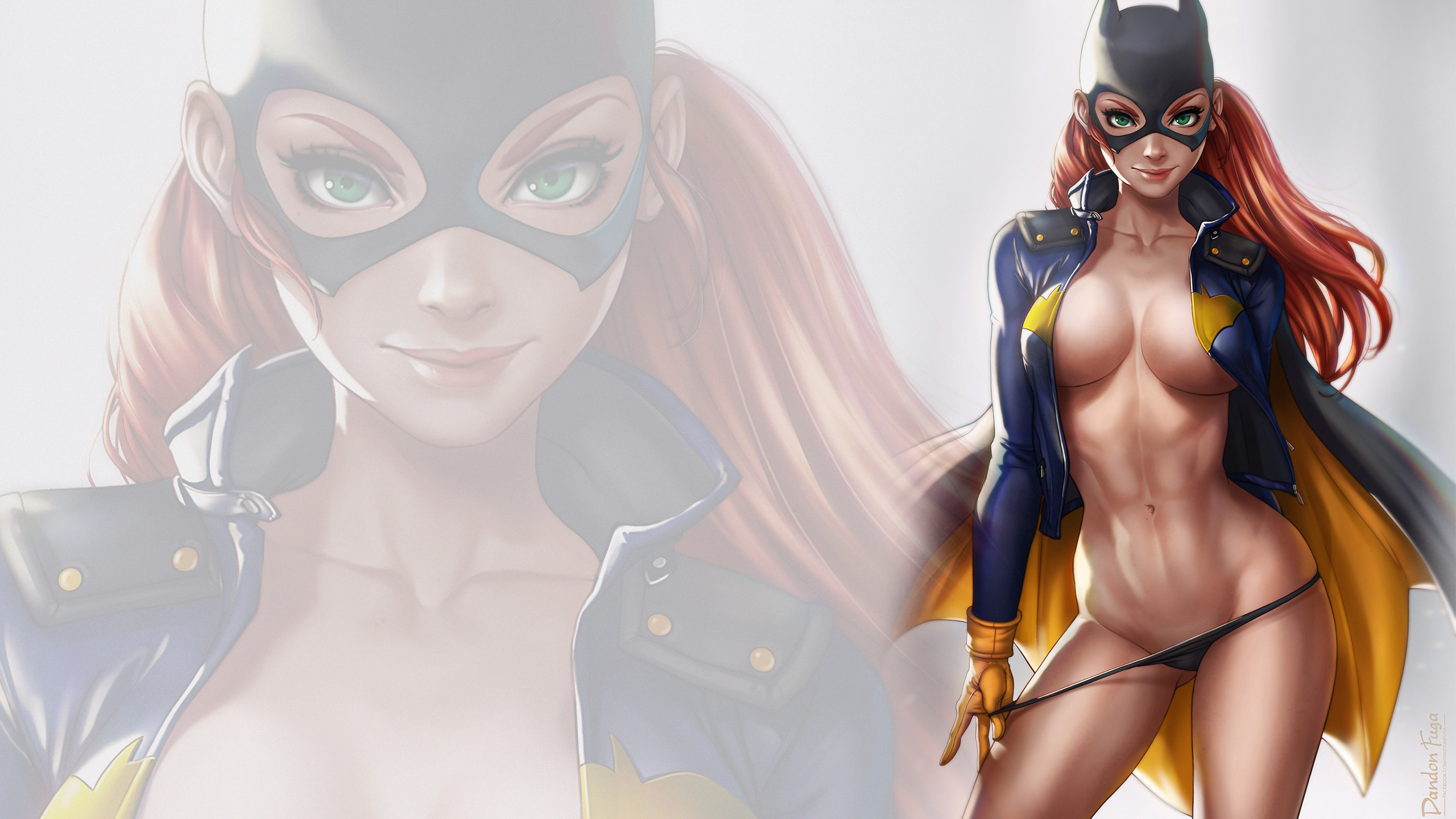 General 2560x1440 dandon fuga Batgirl mask green eyes