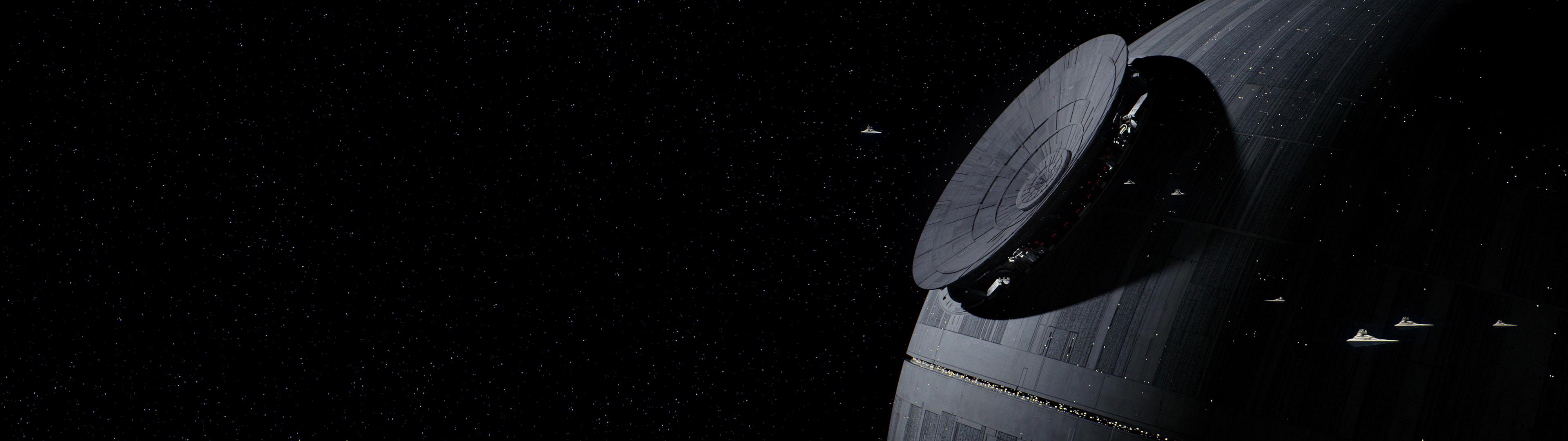 Death Star Star Wars Space 3840x1080 Wallpaper Wallhaven Cc