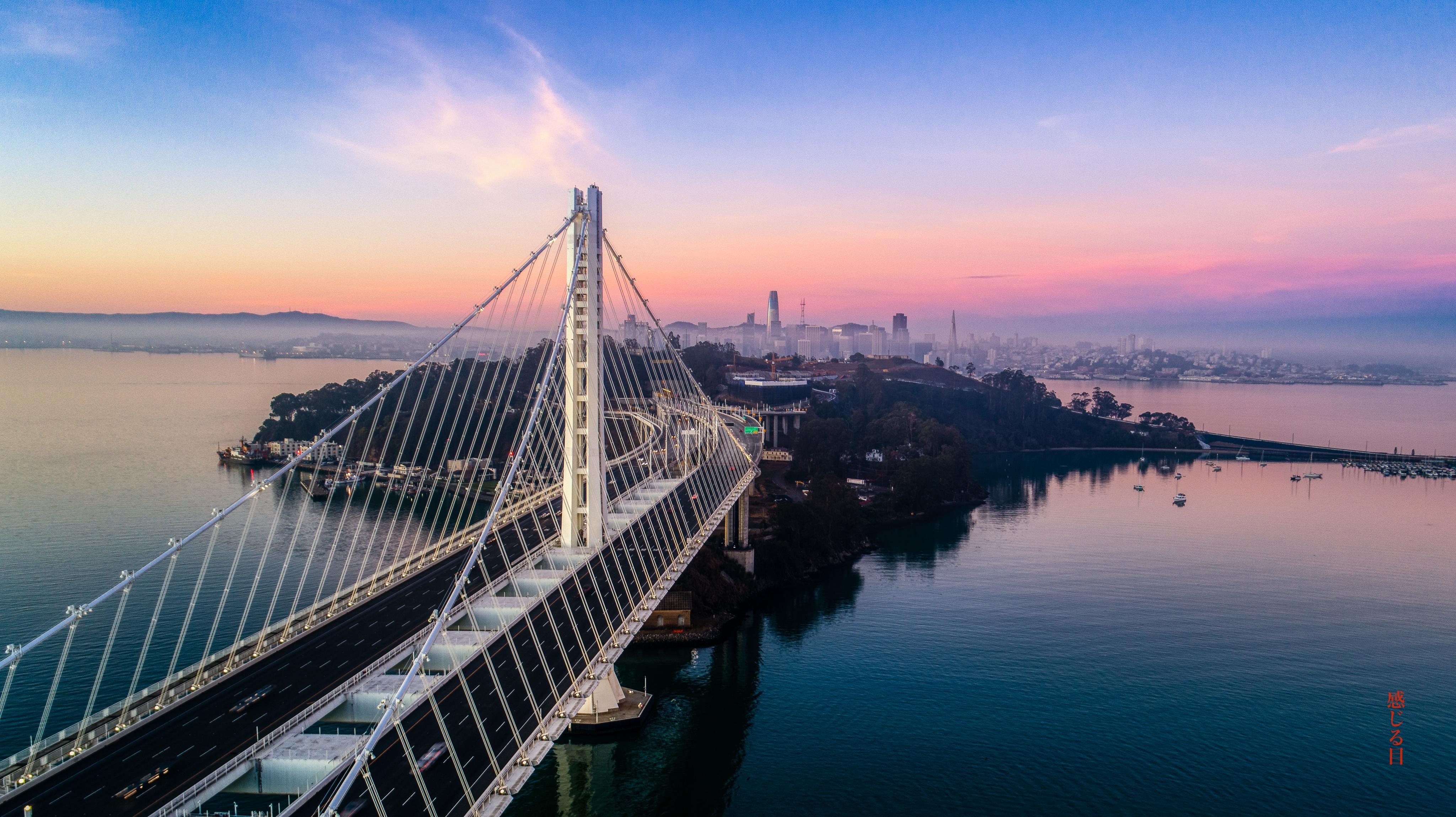 General 4096x2299 San Francisco San Francisco Bay San Francisco-Oakland Bay Bridge sunrise USA west coast