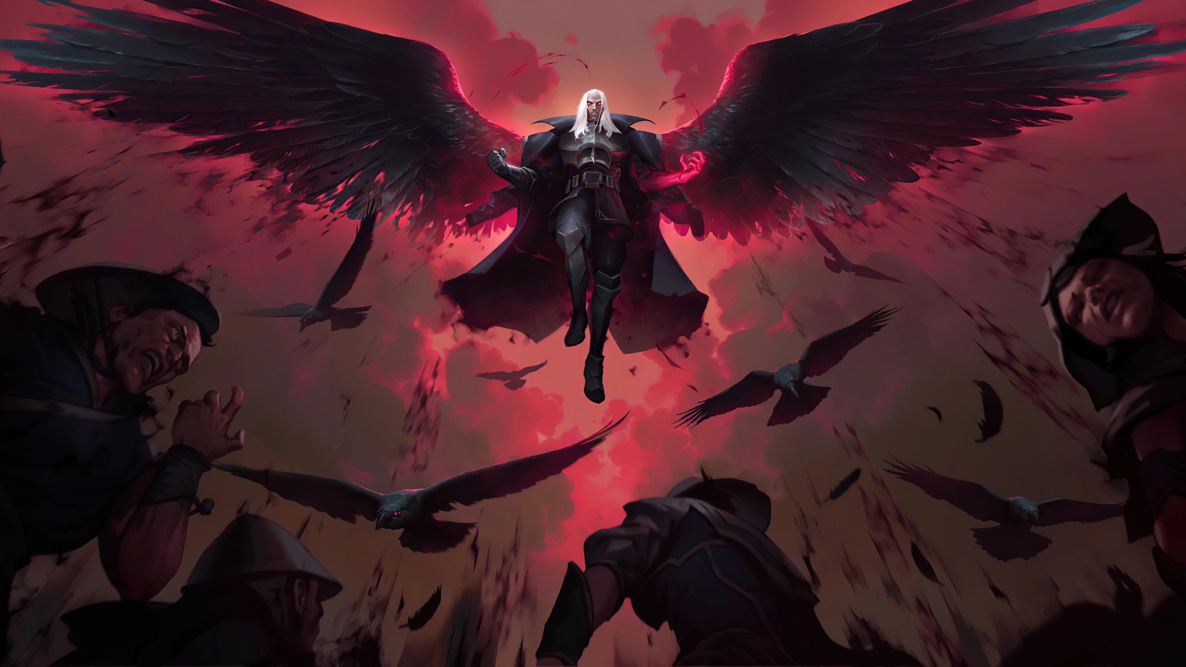 General 3840x2160 Swain Swain (League of Legends) Legends of Runeterra video games PC gaming wings fantasy art