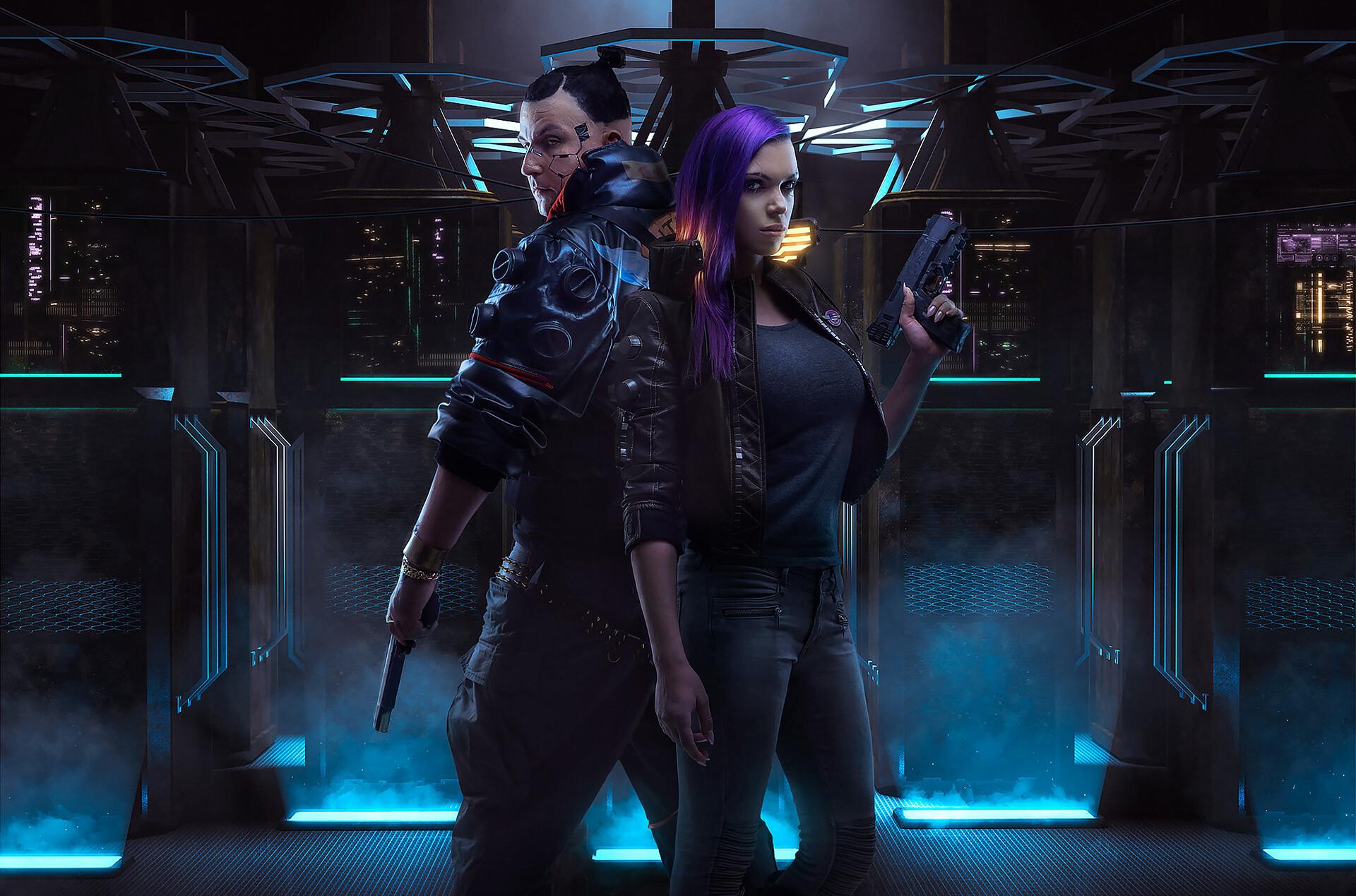 General 1920x1269 Cyberpunk 2077 cyberpunk video games science fiction cosplay Aku 悪 Octokuro futuristic
