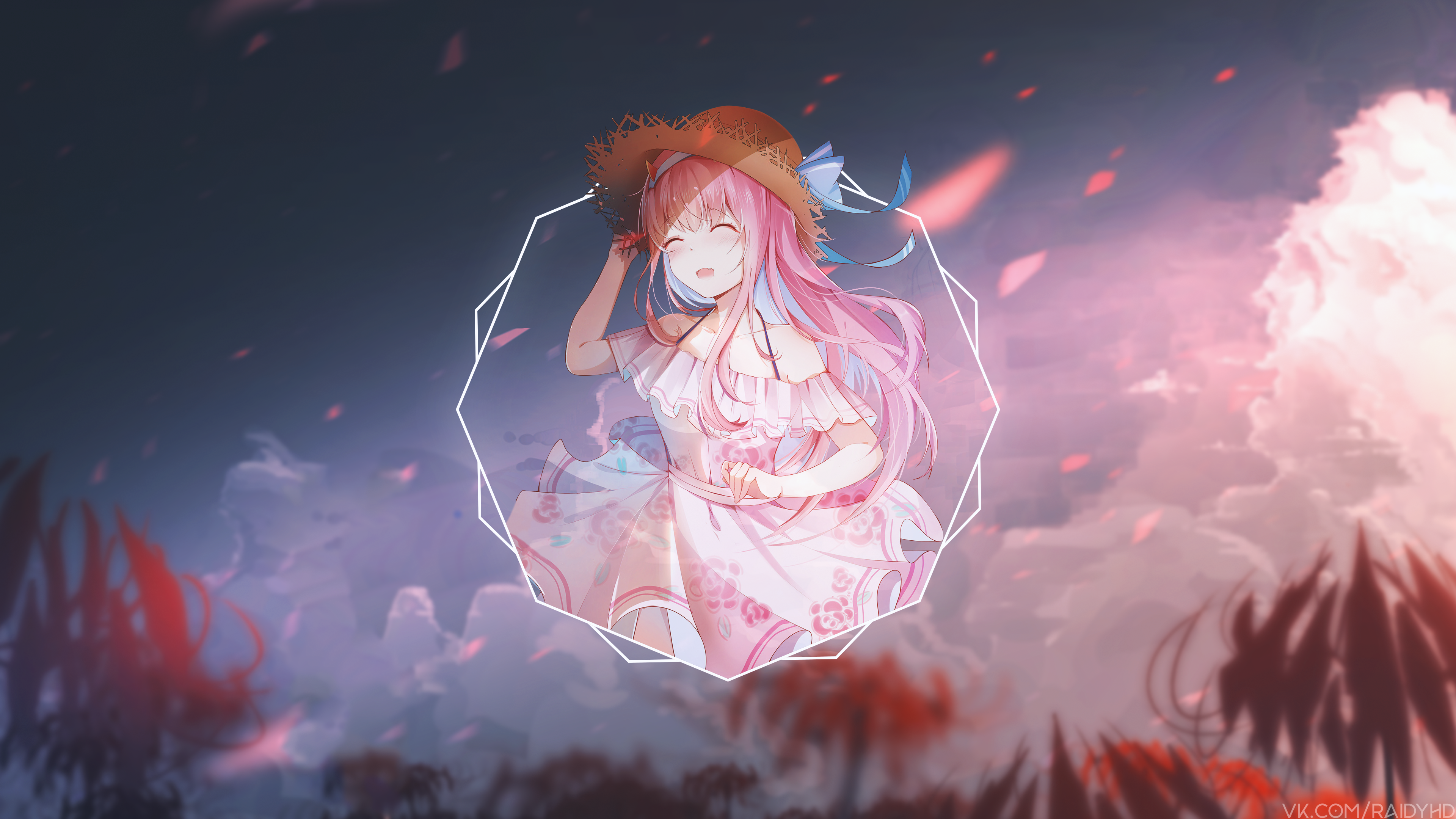 Anime 3840x2160 anime anime girls picture-in-picture Darling in the FranXX Zero Two (Darling in the FranXX) Code:002 (ZeroTwo)