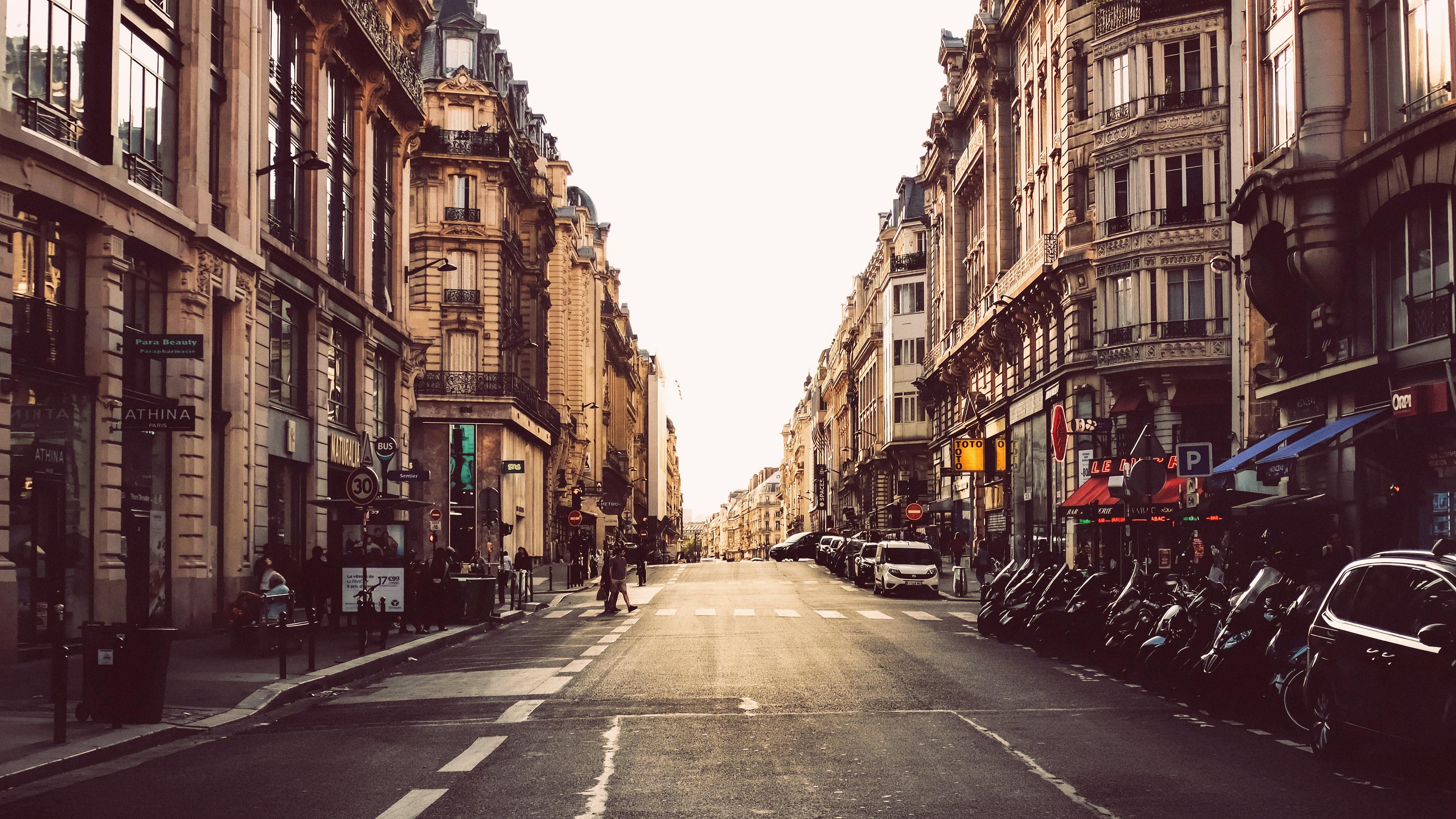 General 3840x2160 street urban cityscape city photography road Paris