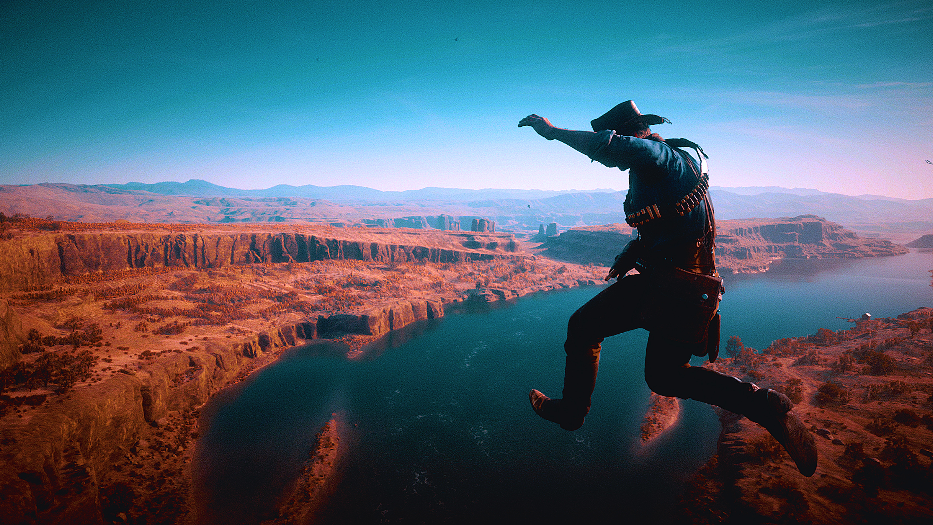 General 3840x2160 Red Dead Redemption 2 landscape western video games PC gaming sky screen shot