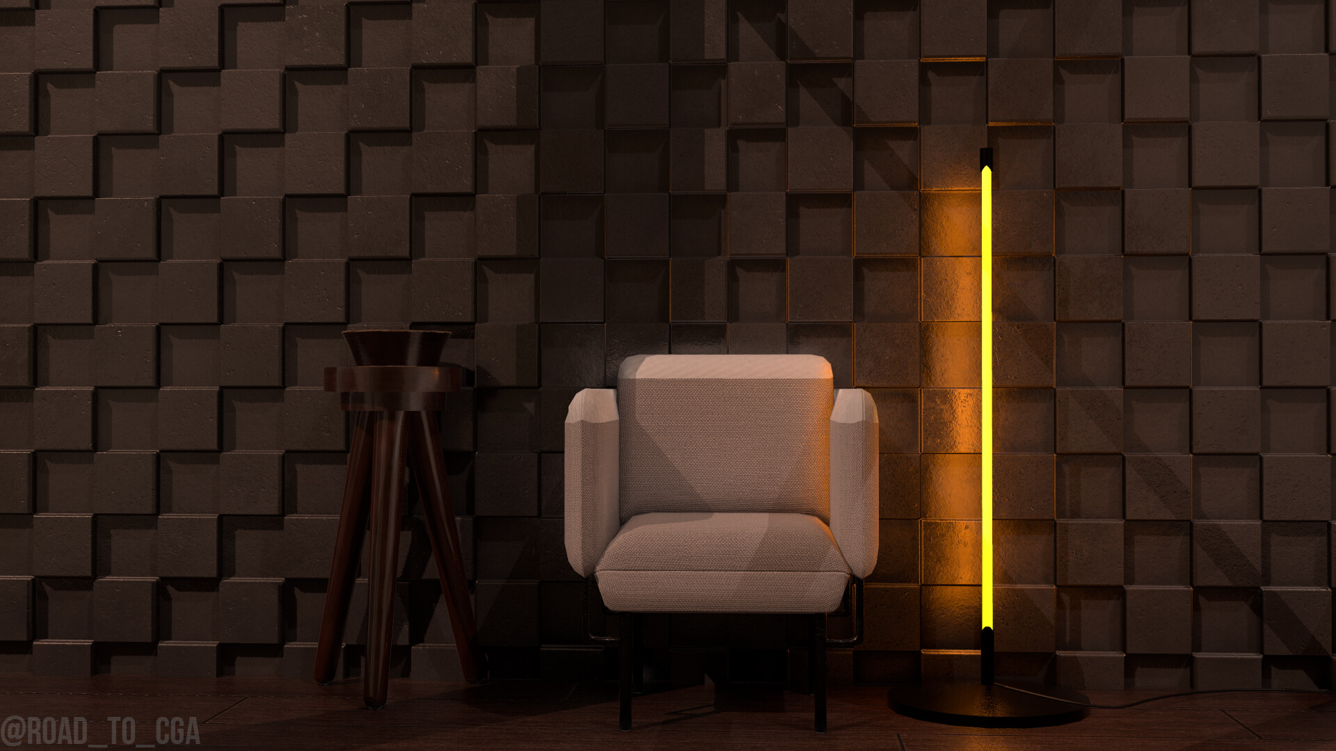 General 1920x1080 Rodrigo De La Rosa Esteban render texture digital art chair interior wall