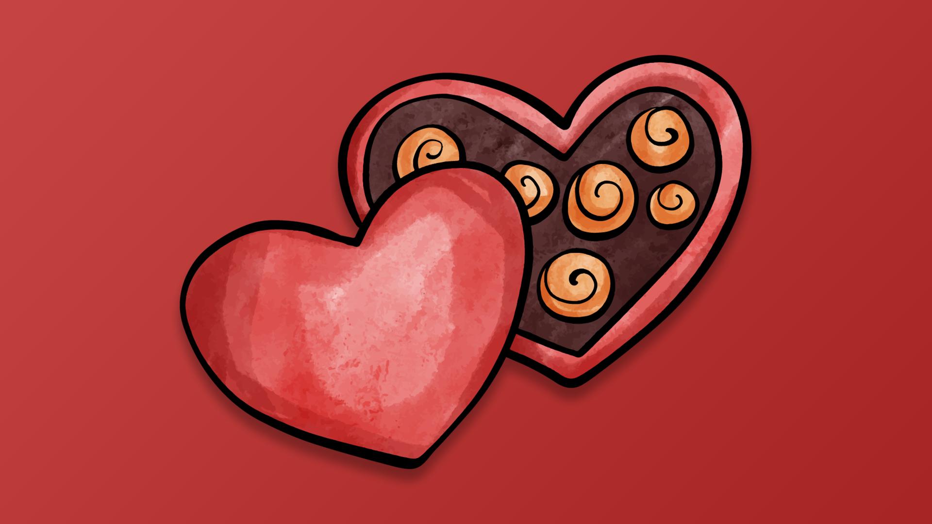General 1920x1080 Valentine's Day digital heart red background Heart (Design) simple background