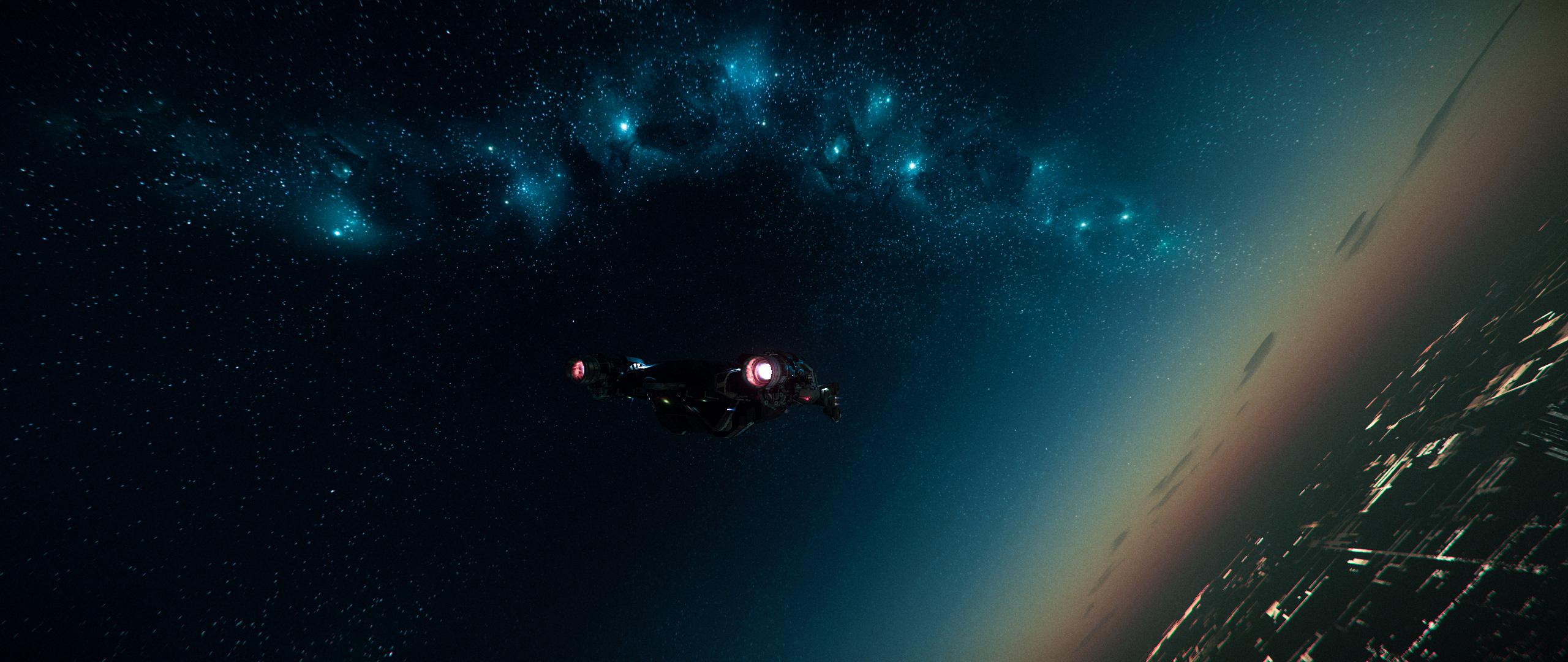 General 2560x1080 Star Citizen ultrawide Ultra Settings screen shot space planet spaceship Cutlass Black