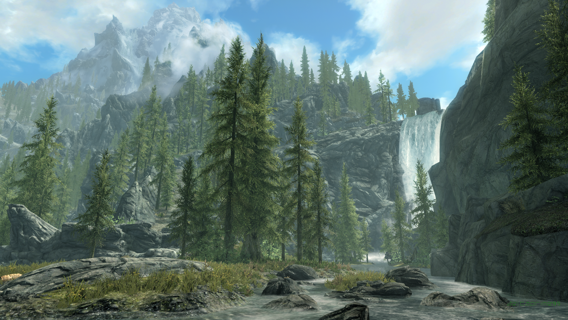 General 1920x1080 Skyrim Remastered The Elder Scrolls V: Skyrim PC gaming screen shot waterfall