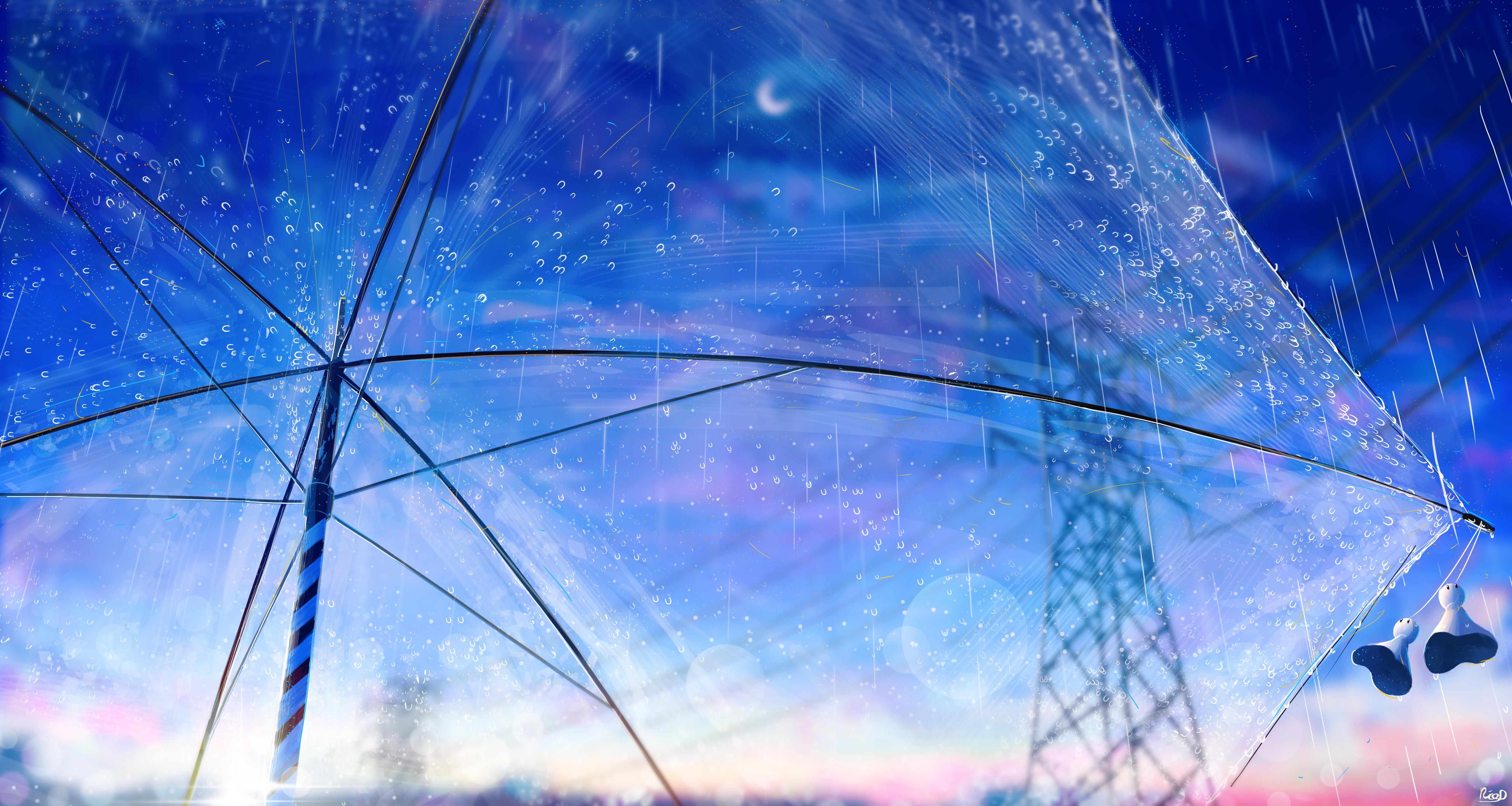 General 5182x2762 RicoDZ umbrella rain ghost Moon bokeh power lines
