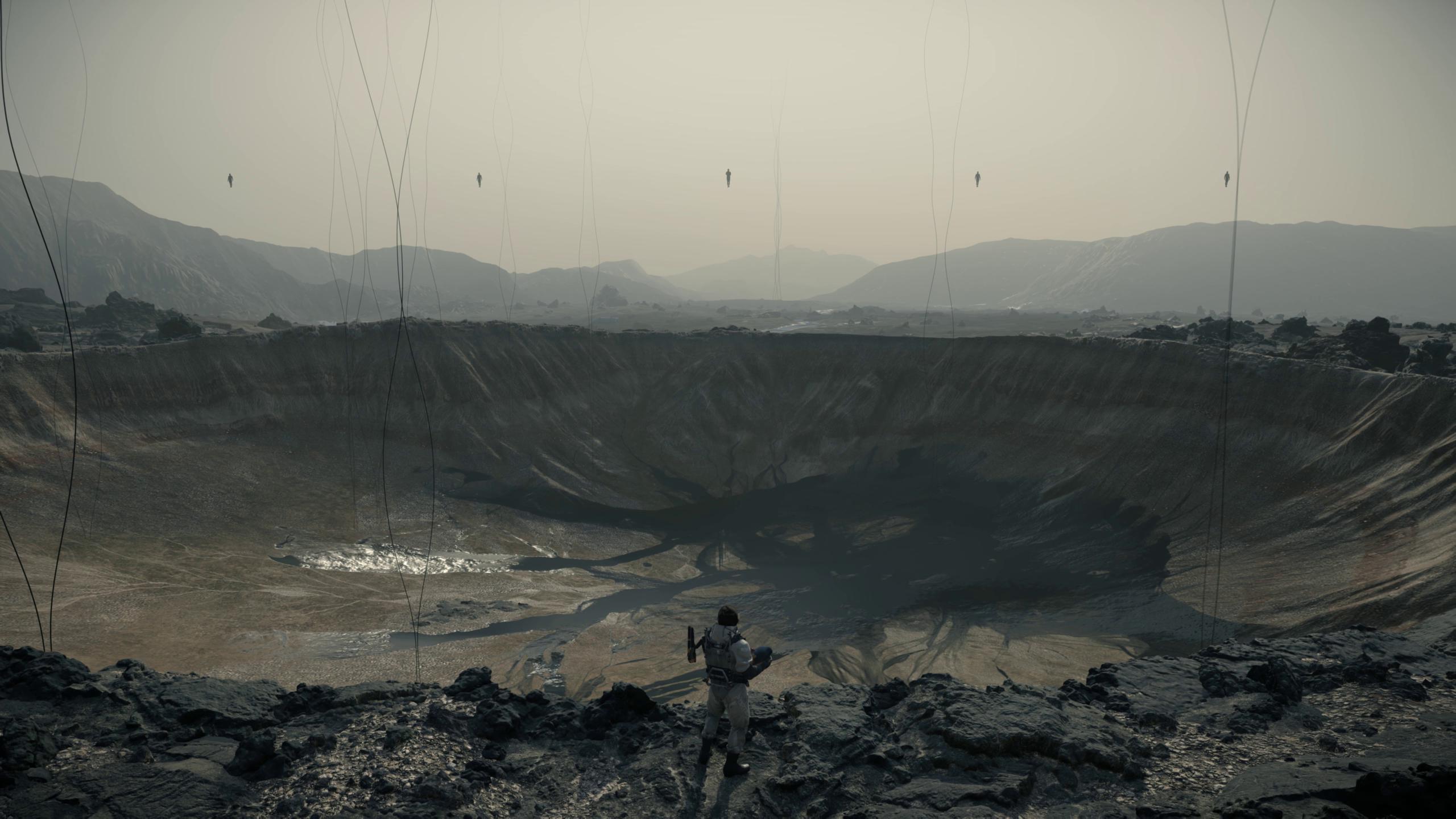 General 2560x1440 Death Stranding Hideo Kojima crater video games