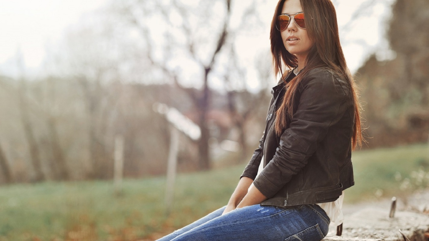 People 1422x800 women brunette women with shades sitting long hair model