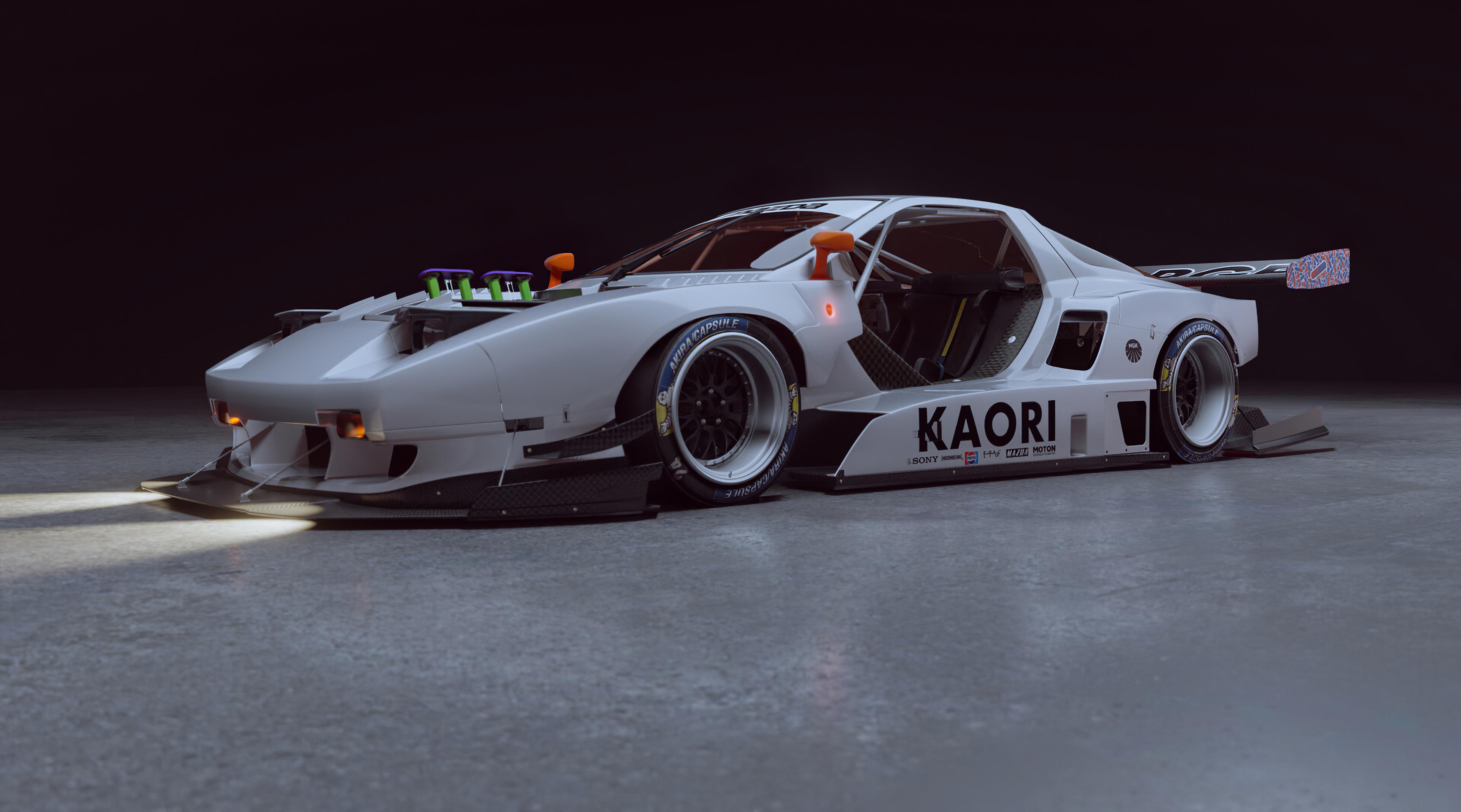 General 3840x2134 walter kim car race cars digital art white cars