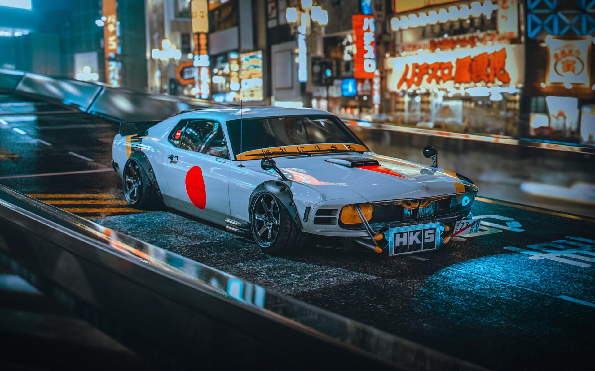 General 1920x1200 traditional 3d car Japan concept art flag vehicle