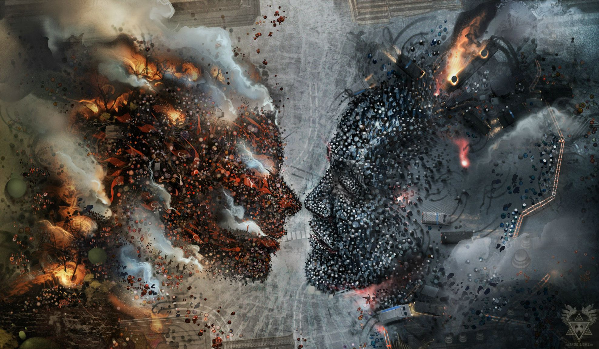 General 1976x1151 riots police protestors artwork fantasy art face to face rebellion Rebels rebel digital art