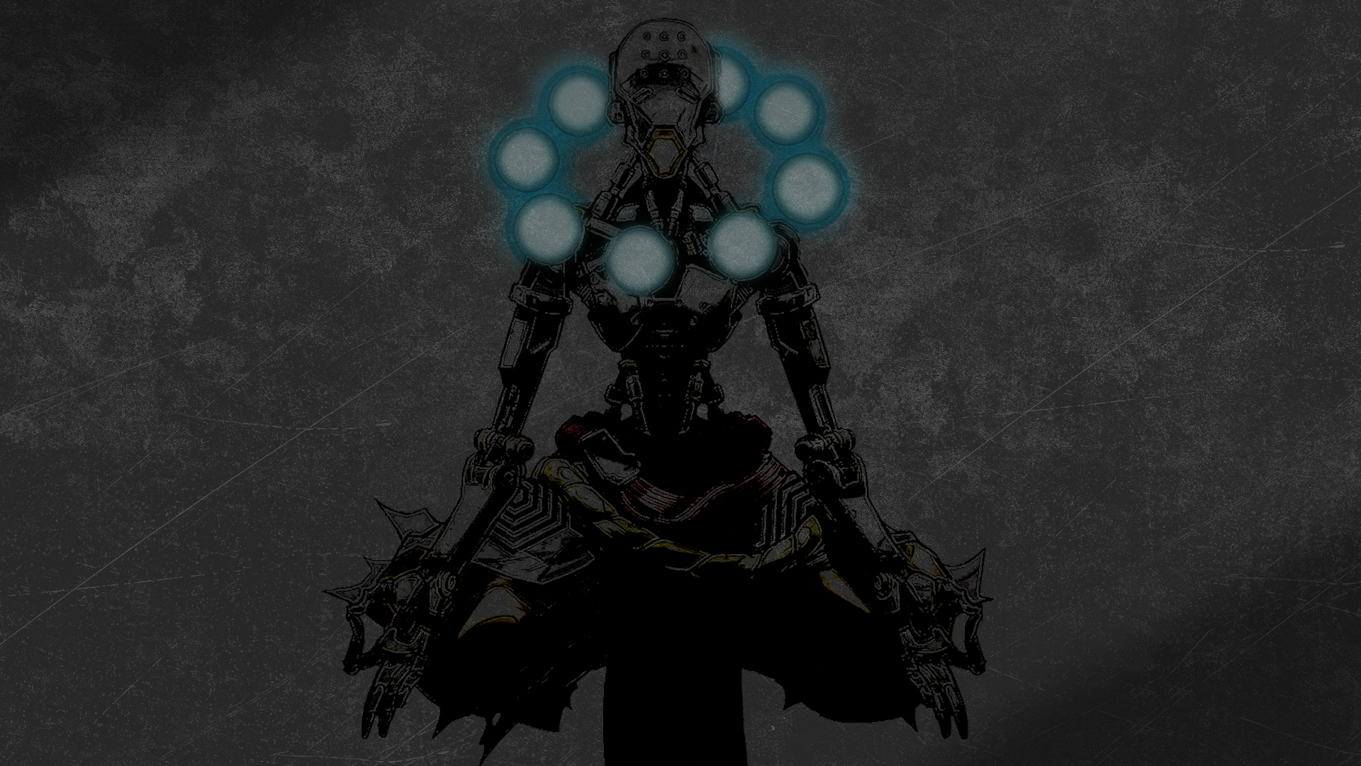 General 1920x1080 Overwatch Zenyatta (Overwatch) dark background video games