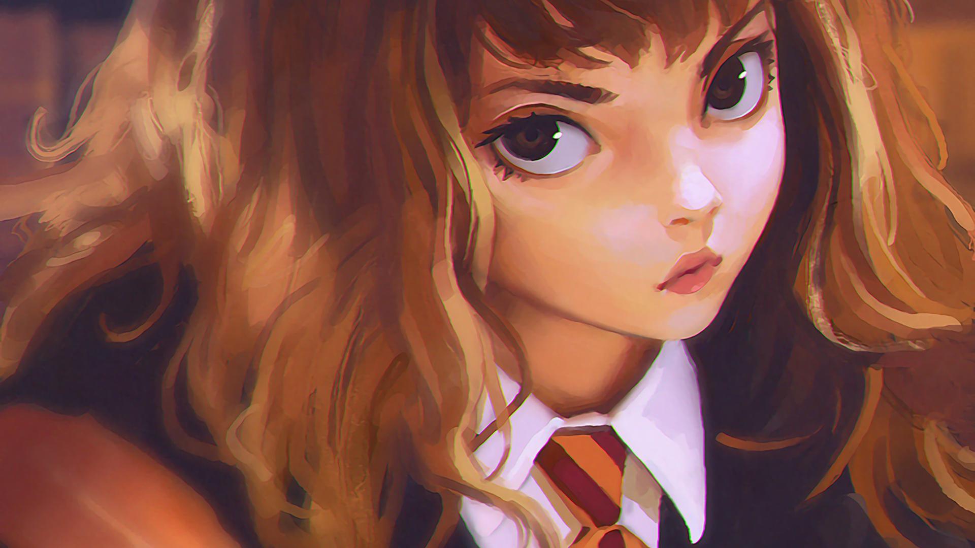 General 1920x1080 Ilya Kuvshinov drawing Harry Potter Hermione Granger