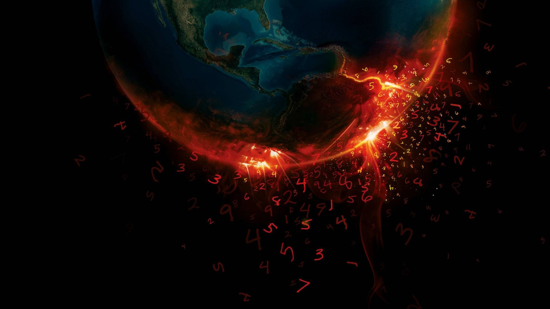 General 1920x1080 numbers Earth digital art space art space planet apocalyptic