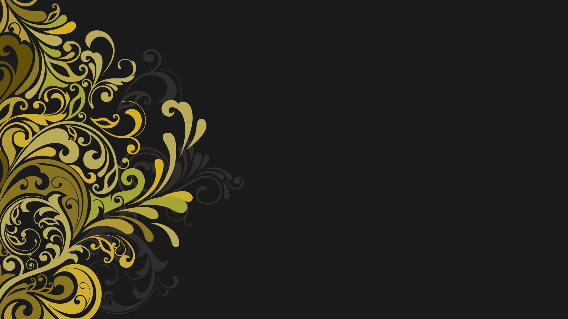 General 1920x1080 floral vector digital art dark background