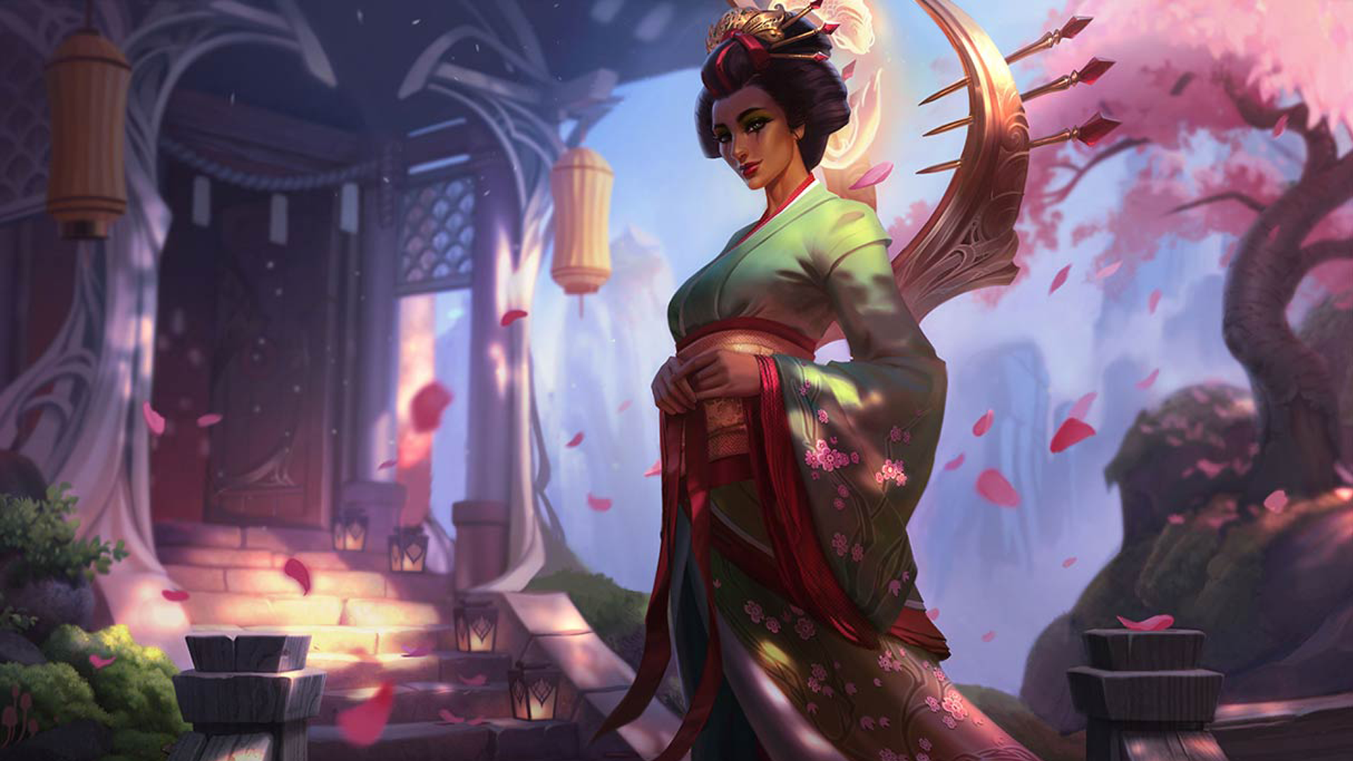 General 1920x1080 Karma (League of Legends) Summoner's Rift League of Legends fantasy girl fantasy art video game girls PC gaming hanfu