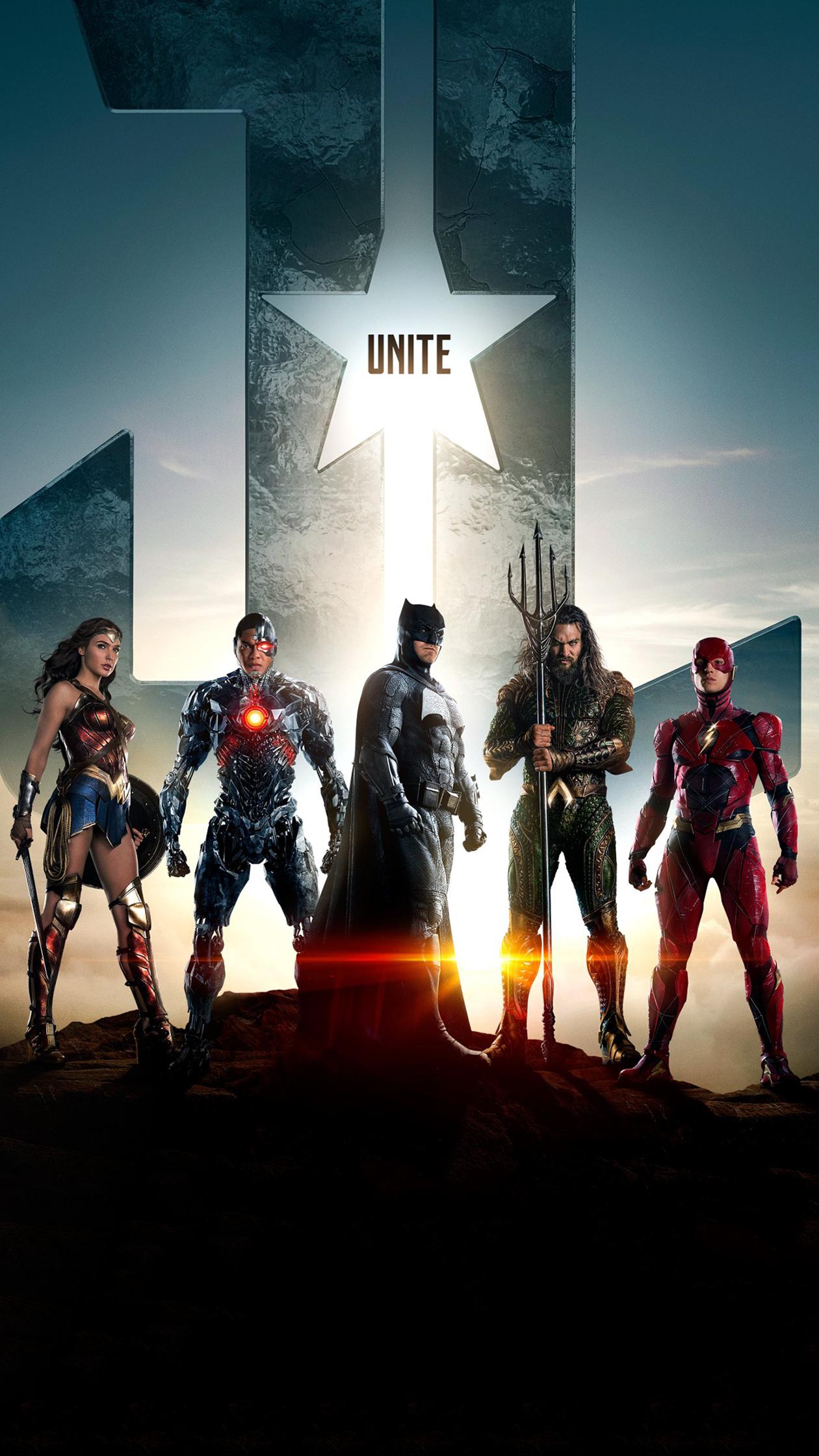 People 1260x2240 portrait display Justice League (2017) Batman Wonder Woman Flash Aquaman Cyborg (DC Comics) movies