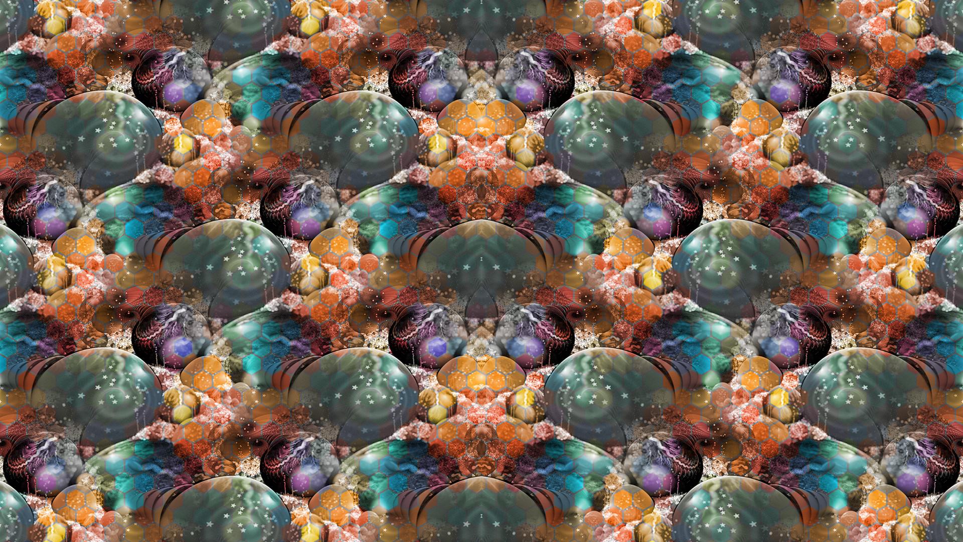 General 1920x1080 abstract fractal pattern symmetry digital art