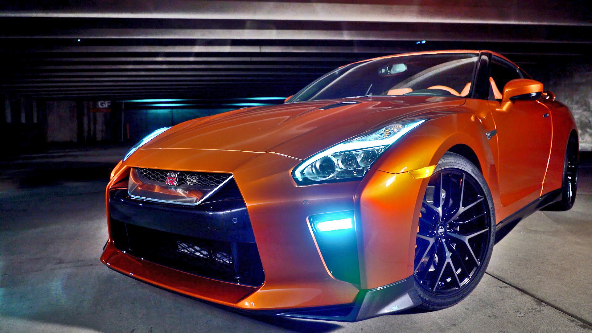 General 1920x1080 Nissan GTR Nissan GT-R NISMO Nissan car vehicle orange cars
