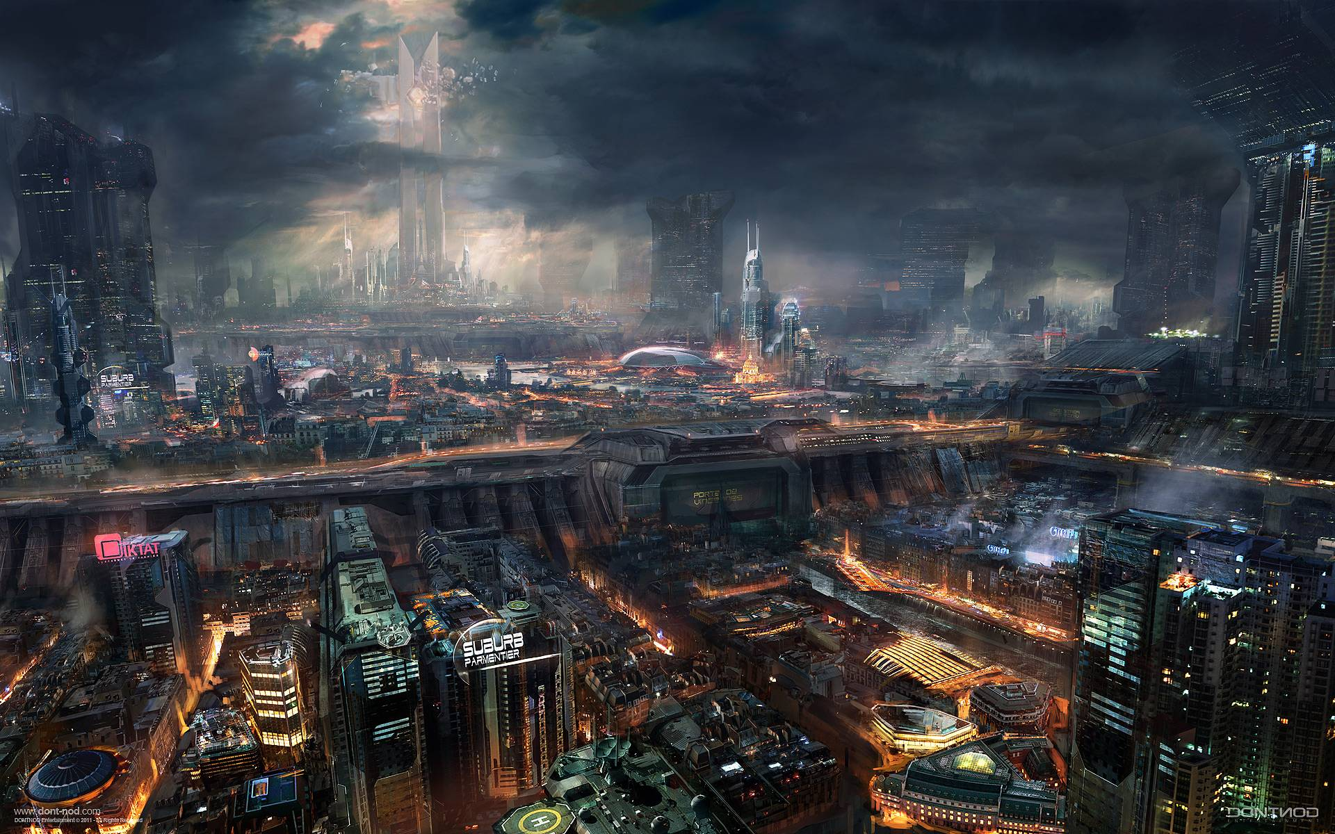 General 1920x1200 cyberpunk Remember Me futuristic concept art detailed futuristic city artwork video games digital art science fiction