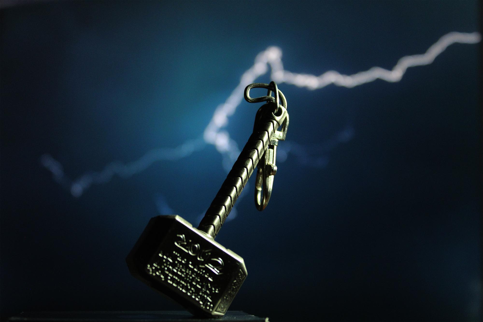 General 2000x1333 Thor Mjolnir lightning artwork keychain keyrings Marvel Cinematic Universe Marvel Comics