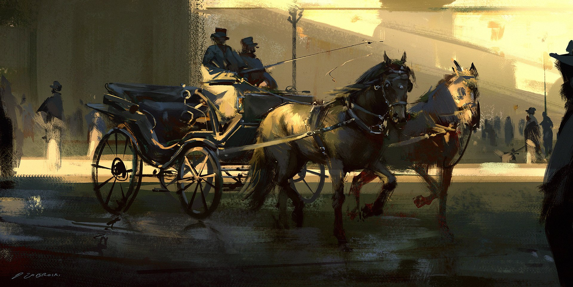 General 1920x961 digital painting Darek Zabrocki  horse Victorian