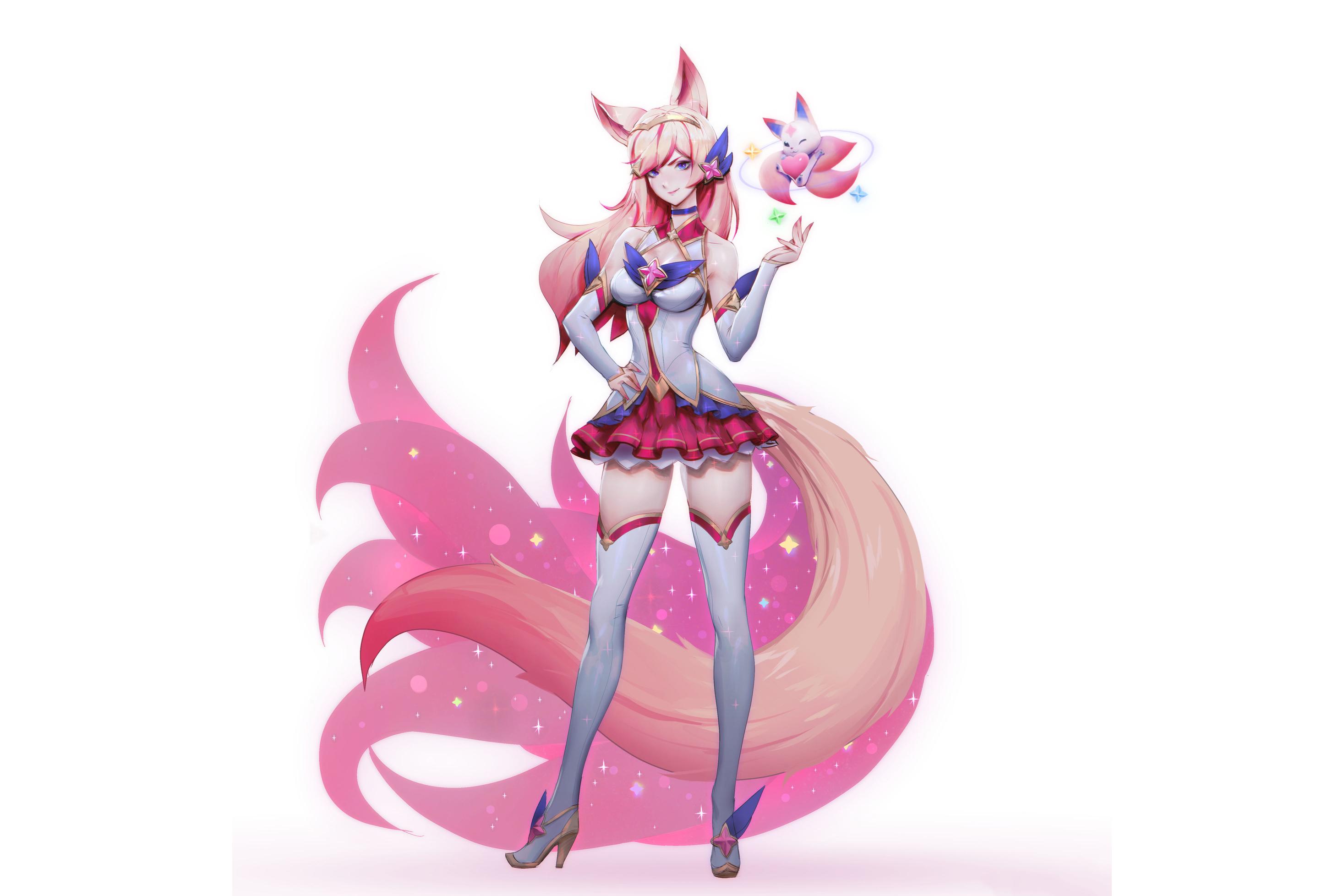 Anime 2934x1956 Ahri (League of Legends) Star Guardian Ahri League of Legends women