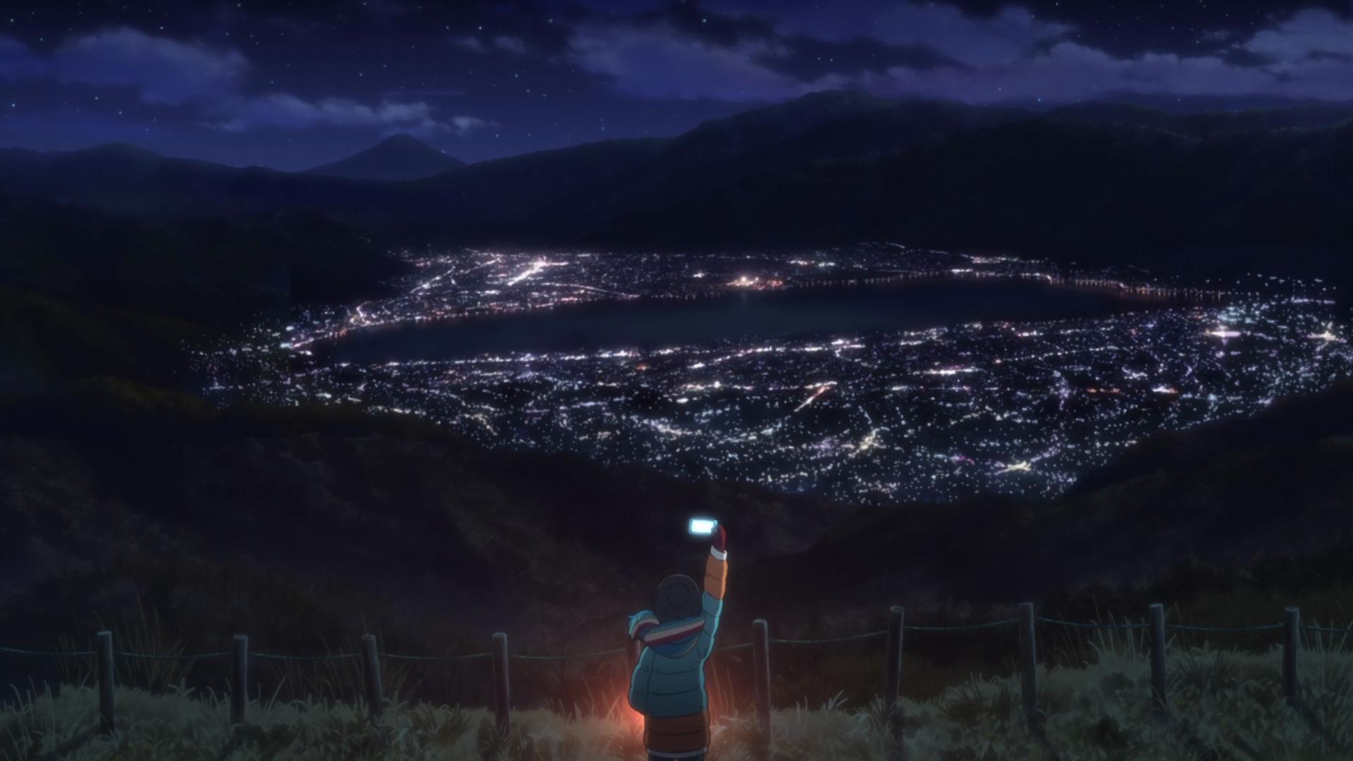 Anime 1920x1080 Yuru Camp night view anime night sky
