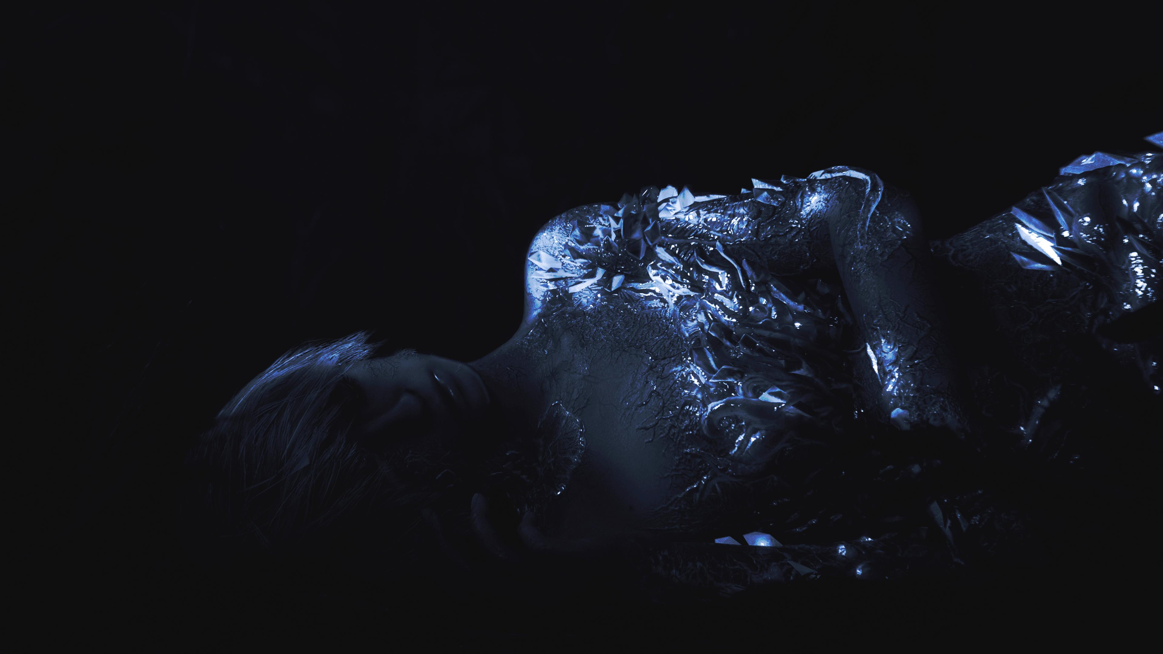 General 3840x2160 resident evil 7 dark glowing women lying down video games Resident Evil