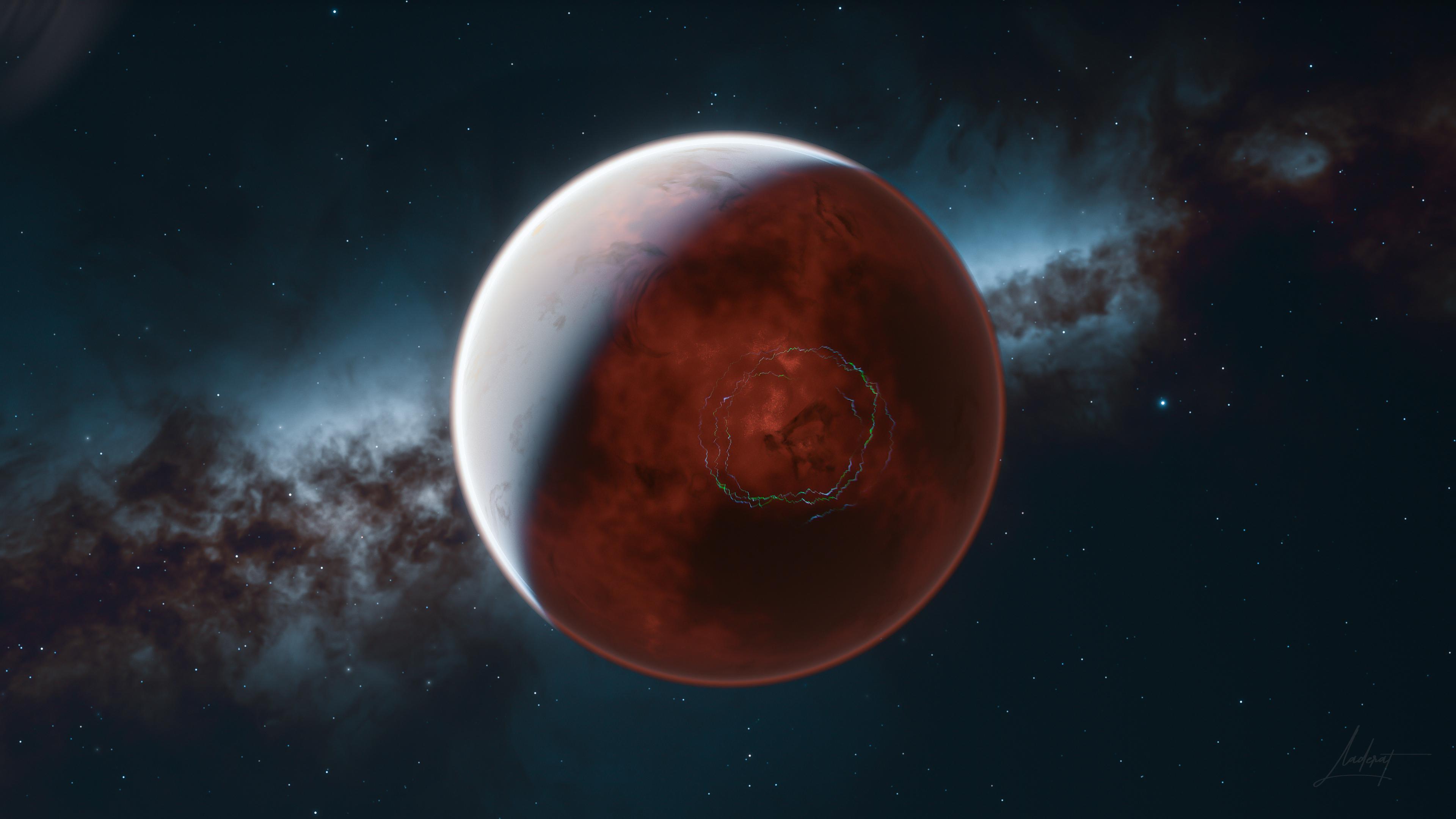 General 3840x2160 planet space nebula atmosphere Milky Way Space Engine screen shot stars aurorae