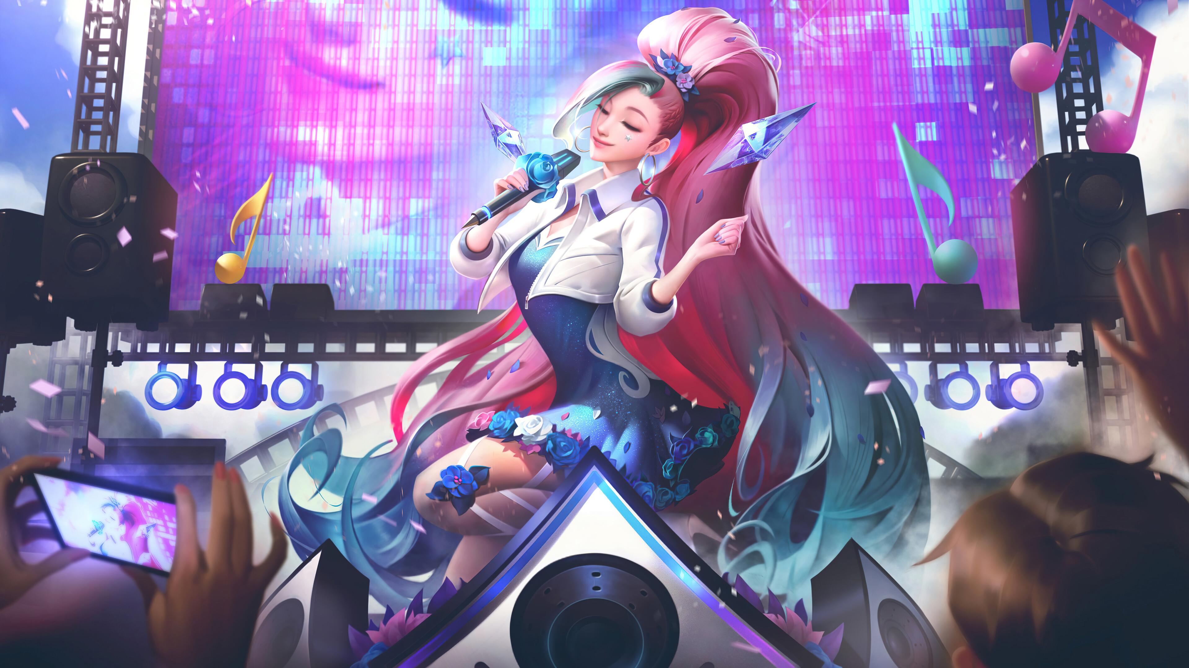 General 3840x2160 Seraphine Seraphine (League of Legends) K/DA kda League of Legends Riot Games music