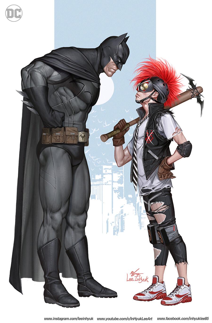 General 900x1366 Batman DC Comics comic art ArtStation InHyuk Lee Clown Killer