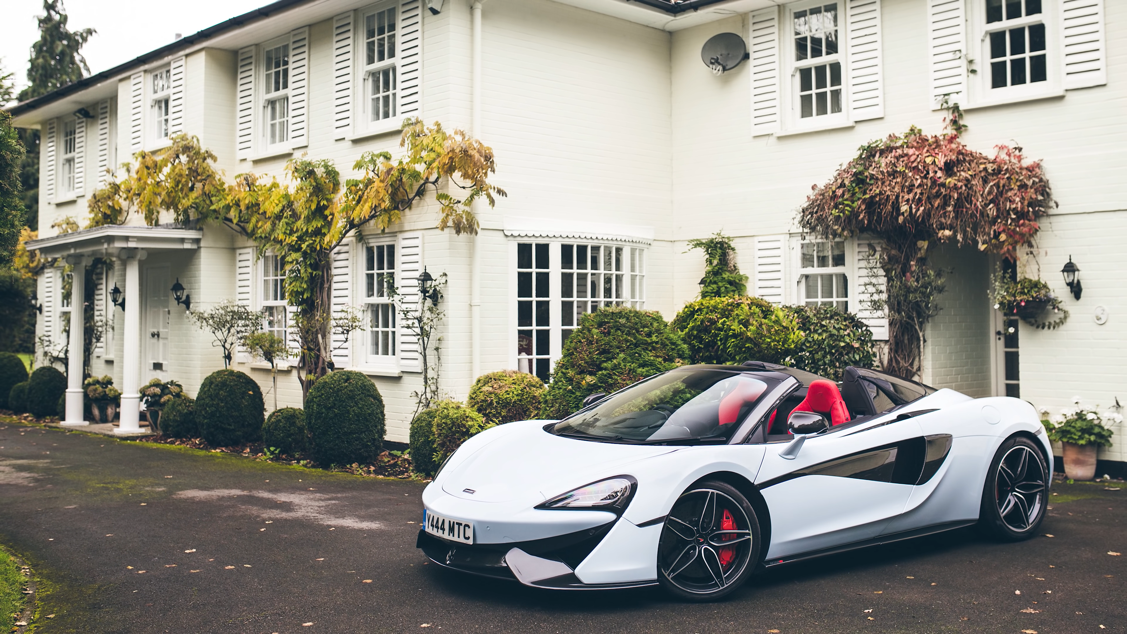 General 3840x2160 McLaren white Wealth luxury cars luxury sports car Convertible photography