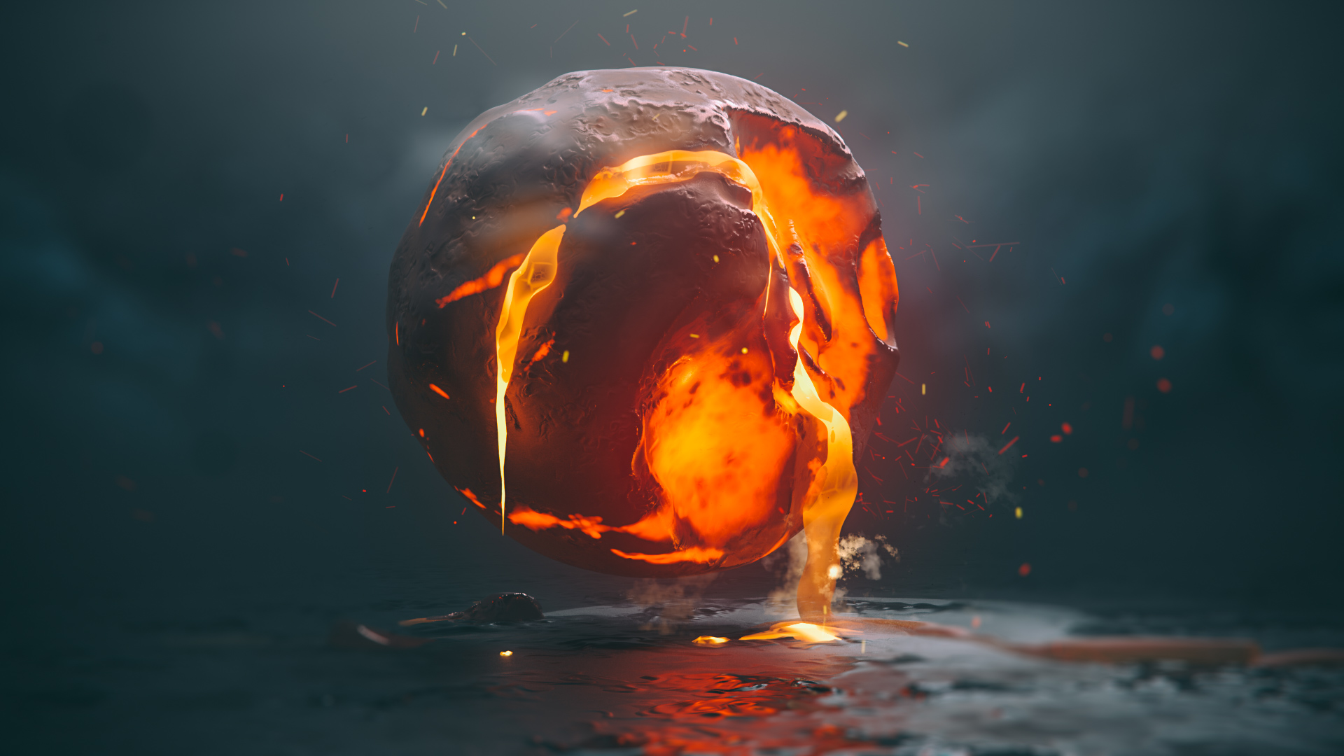 General 1920x1080 lava lava render render digital digital digital art abstract 3D Abstract