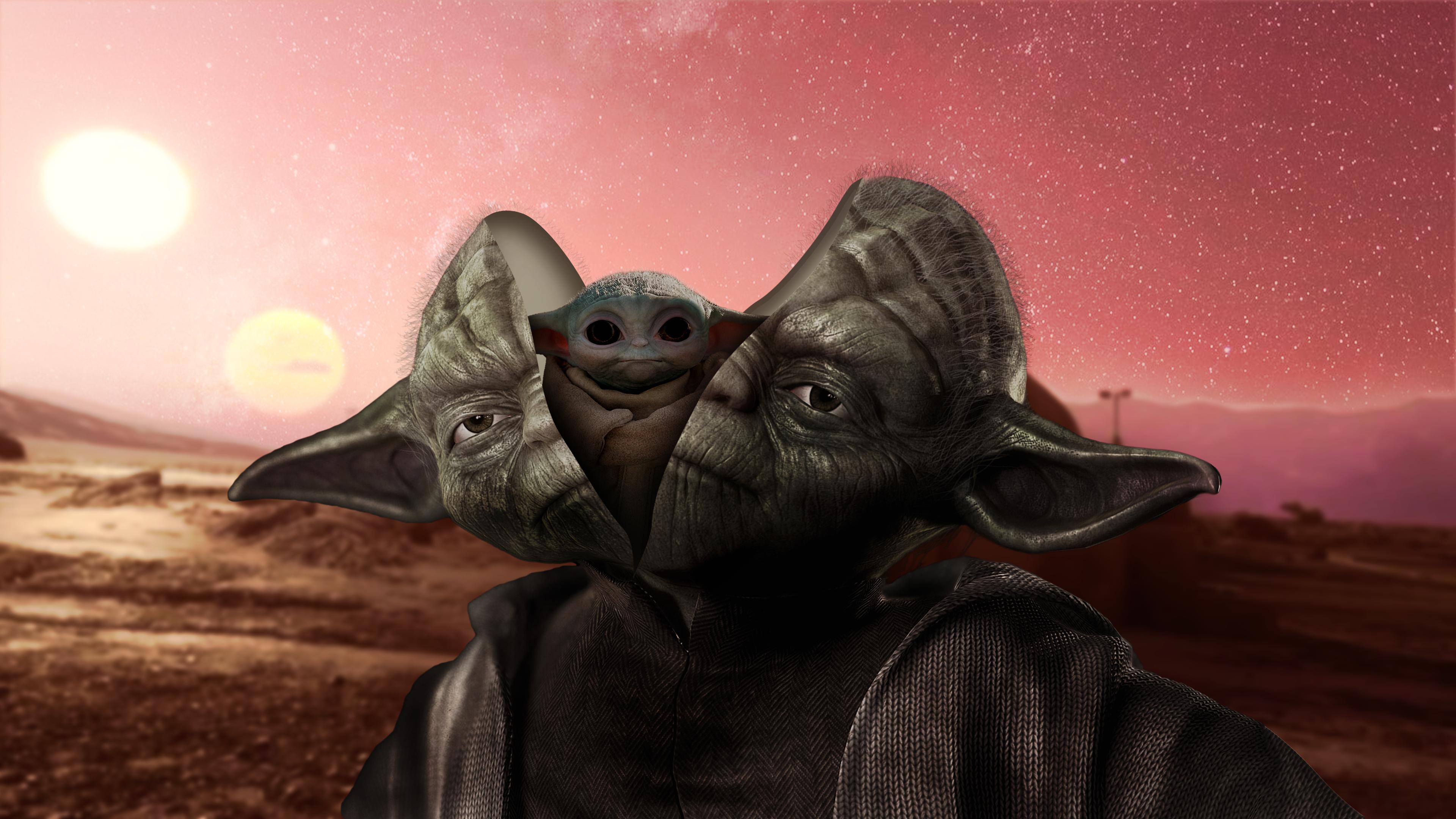 General 3840x2160 Yoda Baby Yoda Star Wars Tatooine transformation