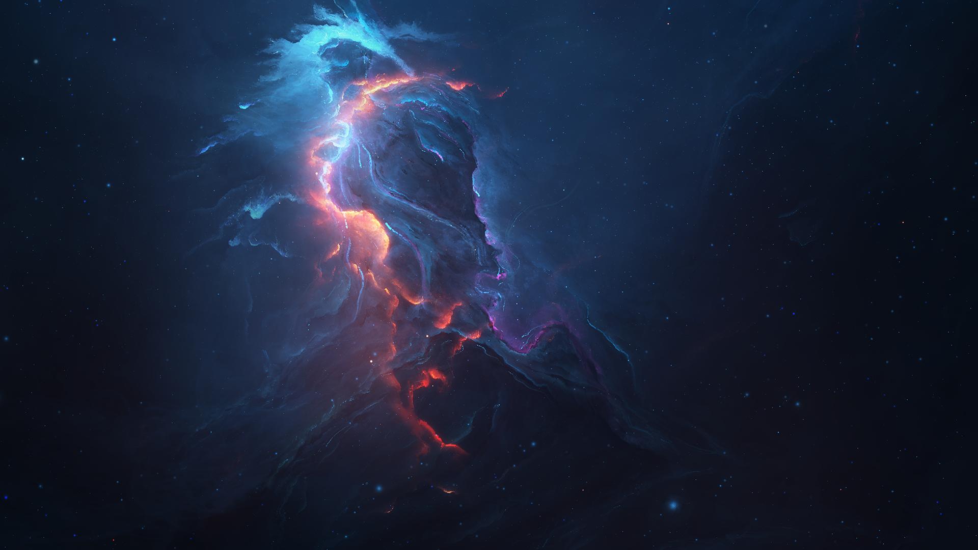 General 1920x1080 galaxy space space art digital art Starkiteckt