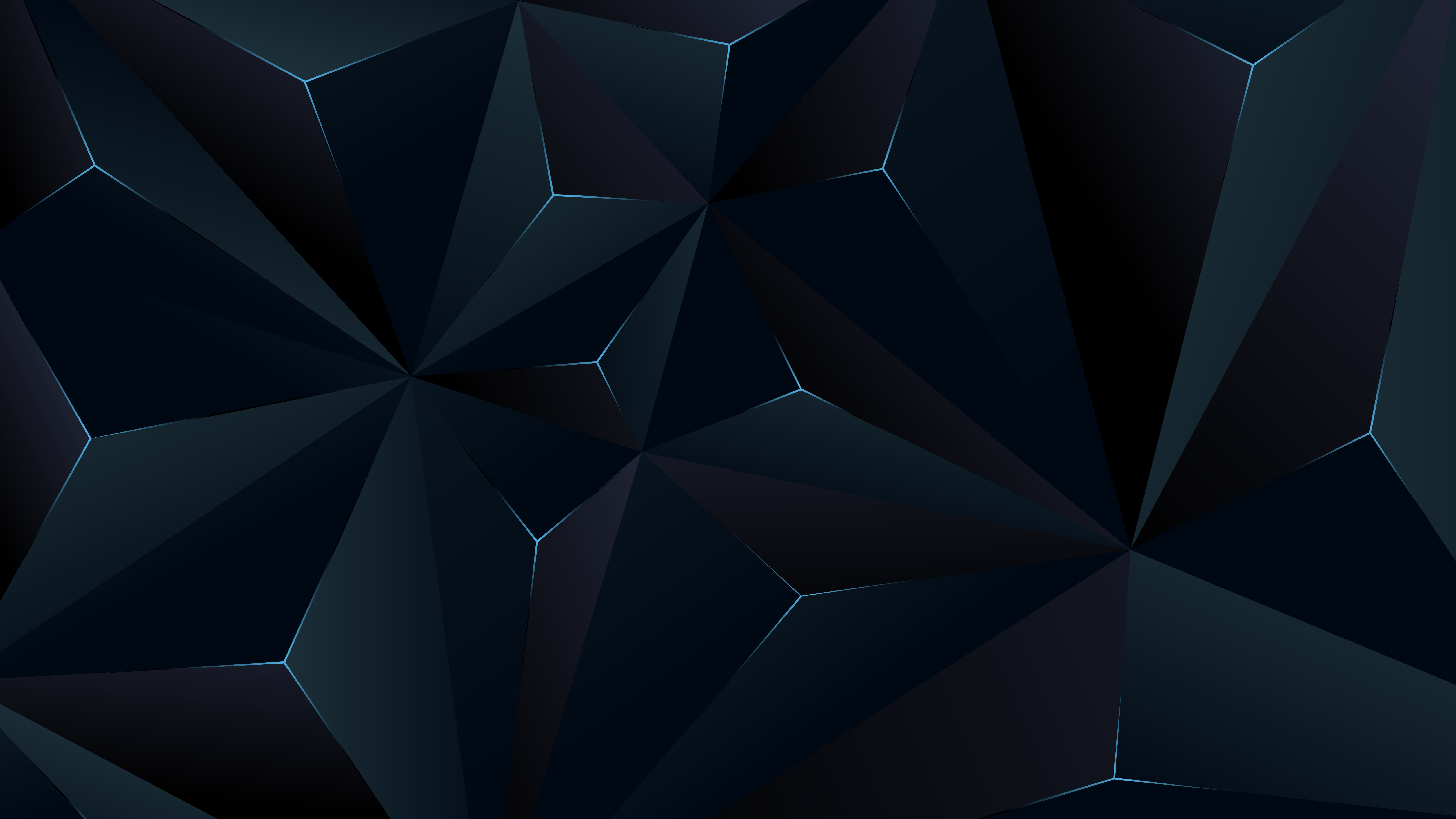 General 6480x3645 abstract 3D texture dark digital art triangle