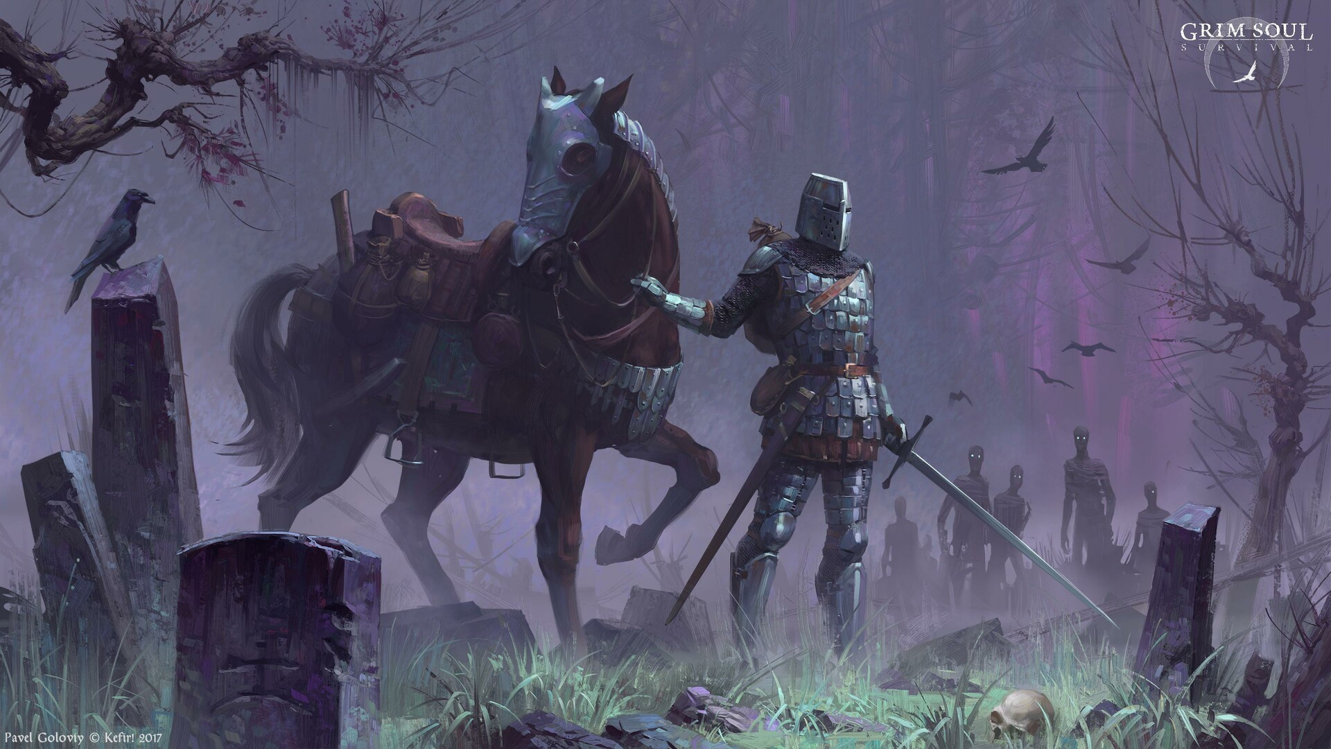 General 1920x1080 medieval illustration fantasy art Gentleman warrior digital Grim Souls video game art