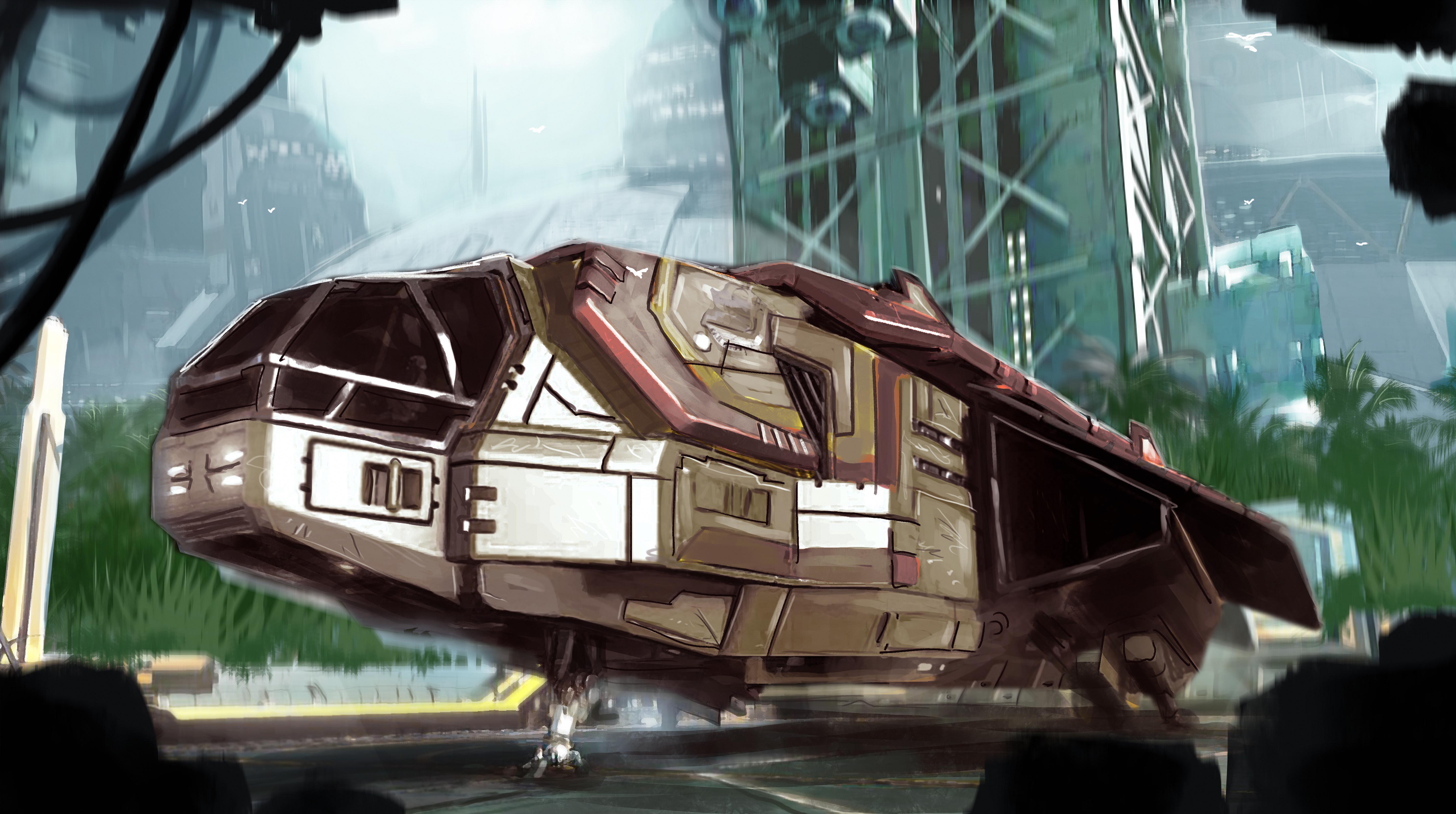 General 5714x3194 Elite: Dangerous science fiction PC gaming vehicle video game art Kev-Art