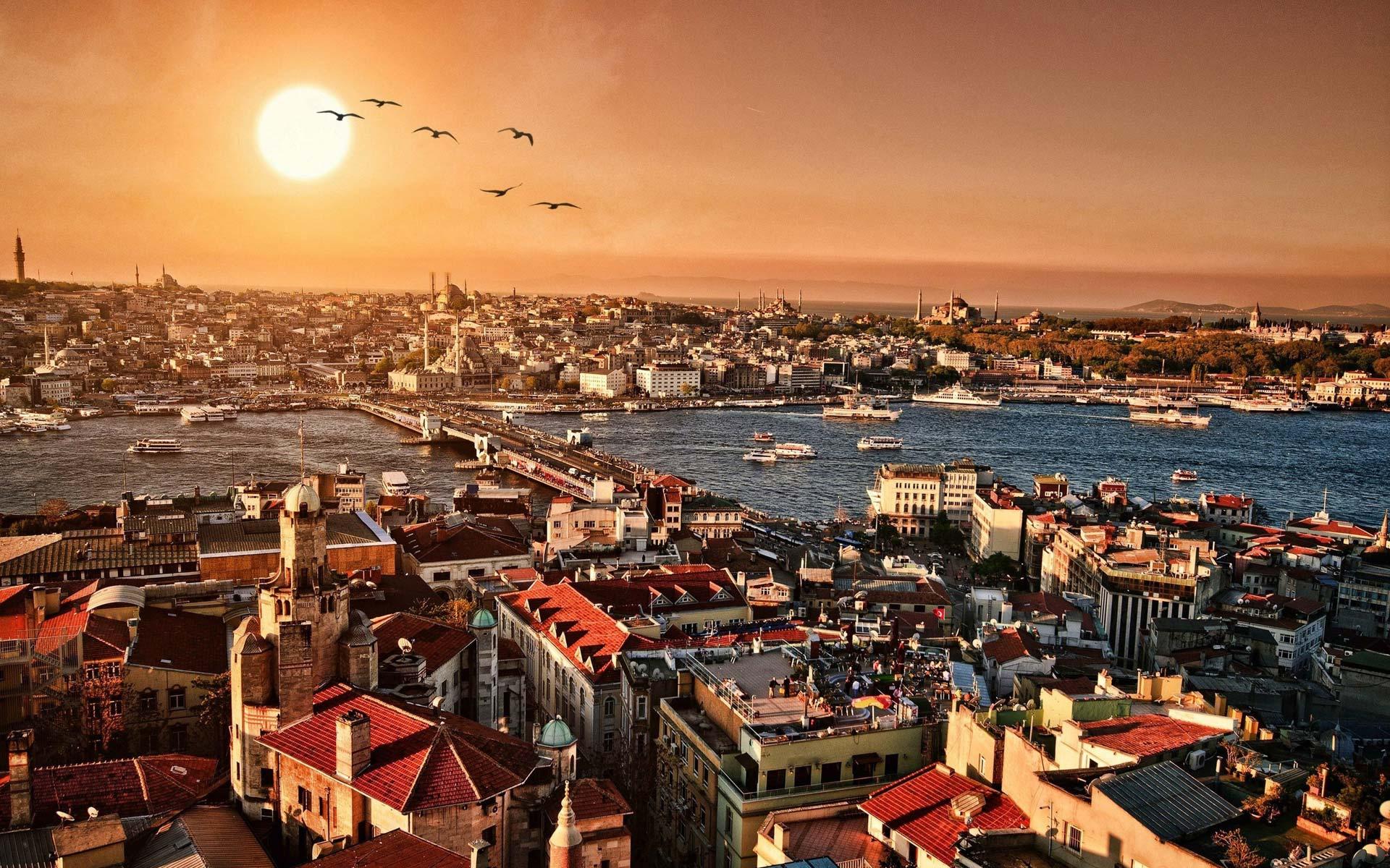 General 1920x1200 Istanbul Turkey cityscape city Bosphorus