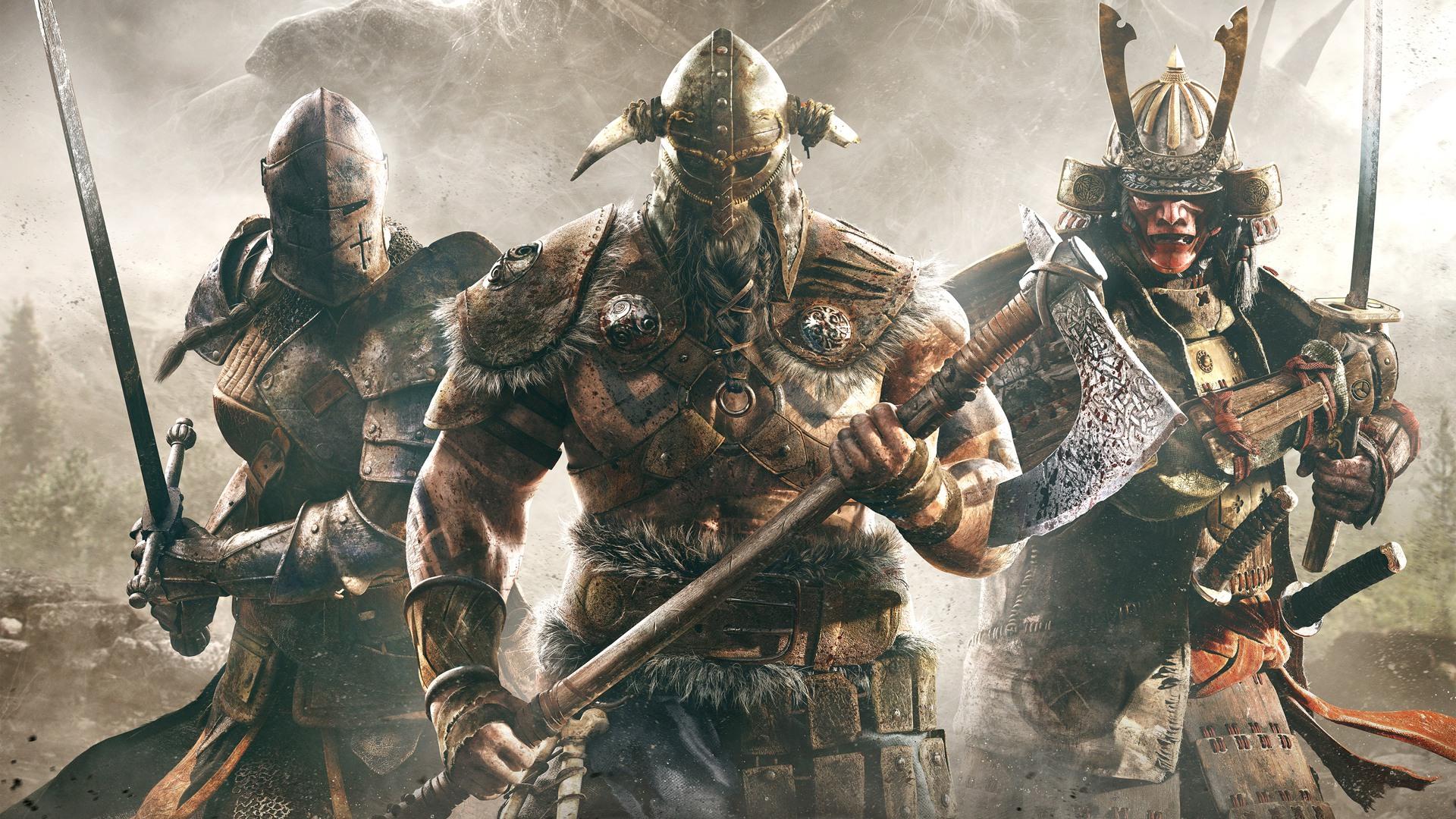 General 1920x1080 video games For Honor knight samurai viking