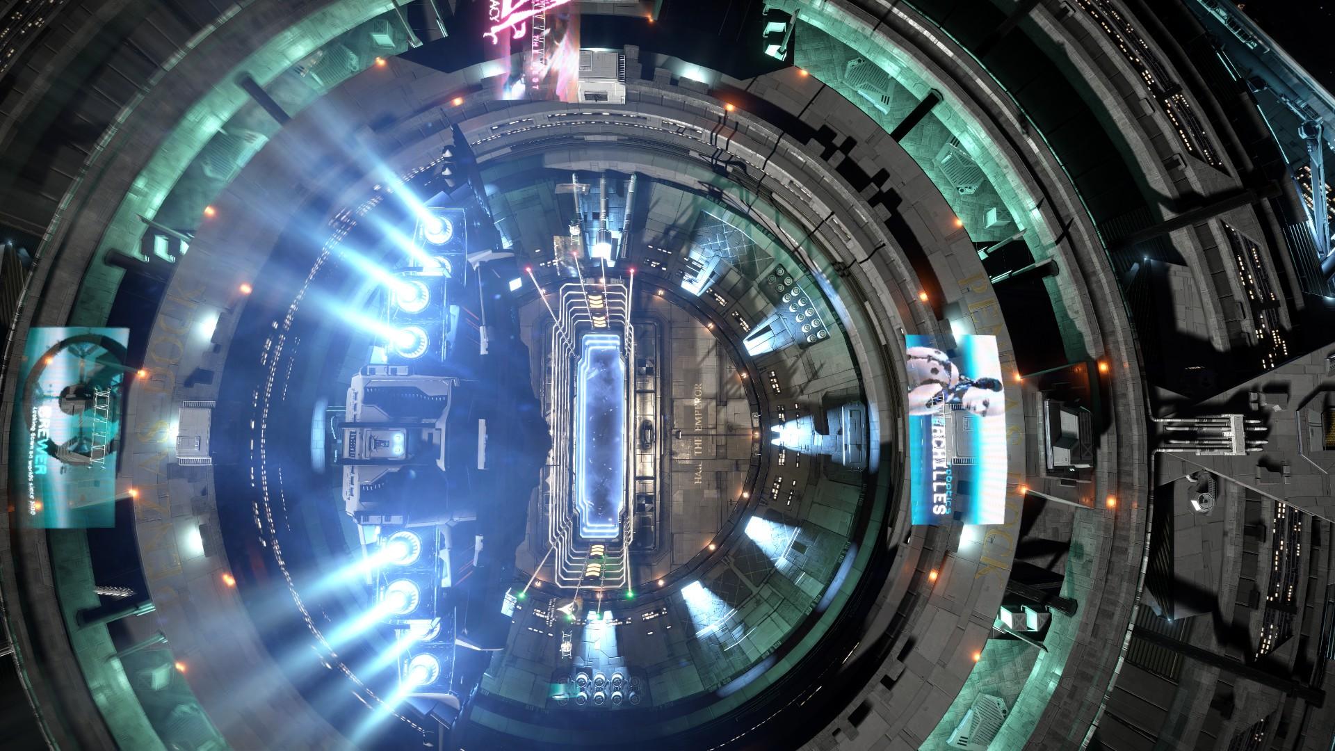 General 1920x1080 Elite: Dangerous space Space Simulator Type-10 space station Starport Coriolis Station spaceship