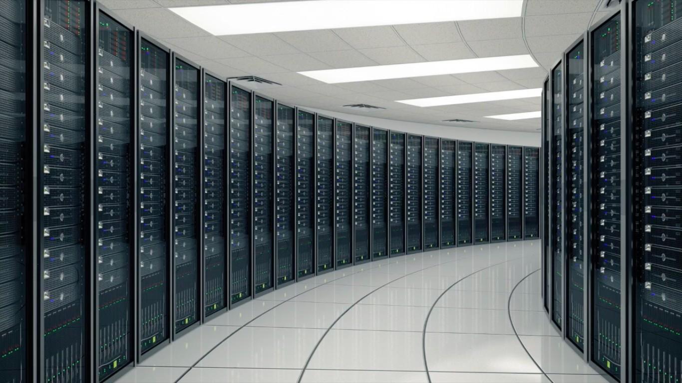 General 1366x768 server room tiles lights glass in-line architecture technology Hi-Tech data center operating system datacenter
